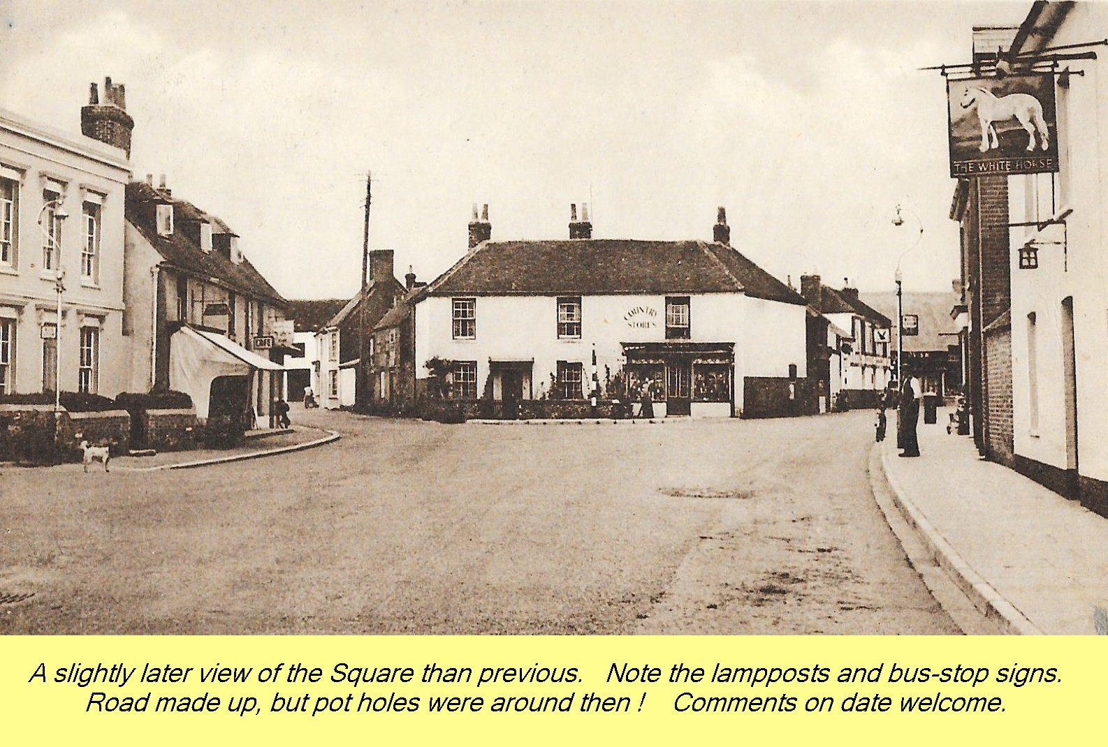WESTBOURNE HISTORY PHOTO, SQUARE, BUS STOP