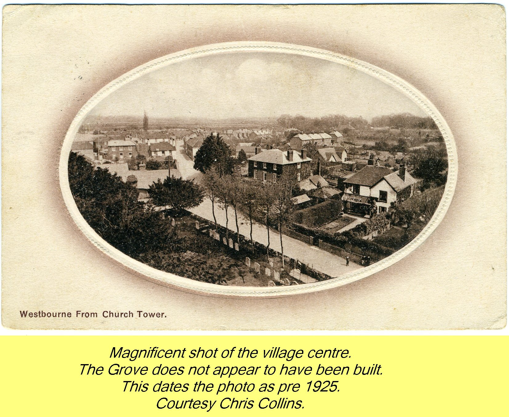 WESTBOURNE HISTORY PHOTO, CENTRE, SQUARE, GROVE, CHURCH TOWER