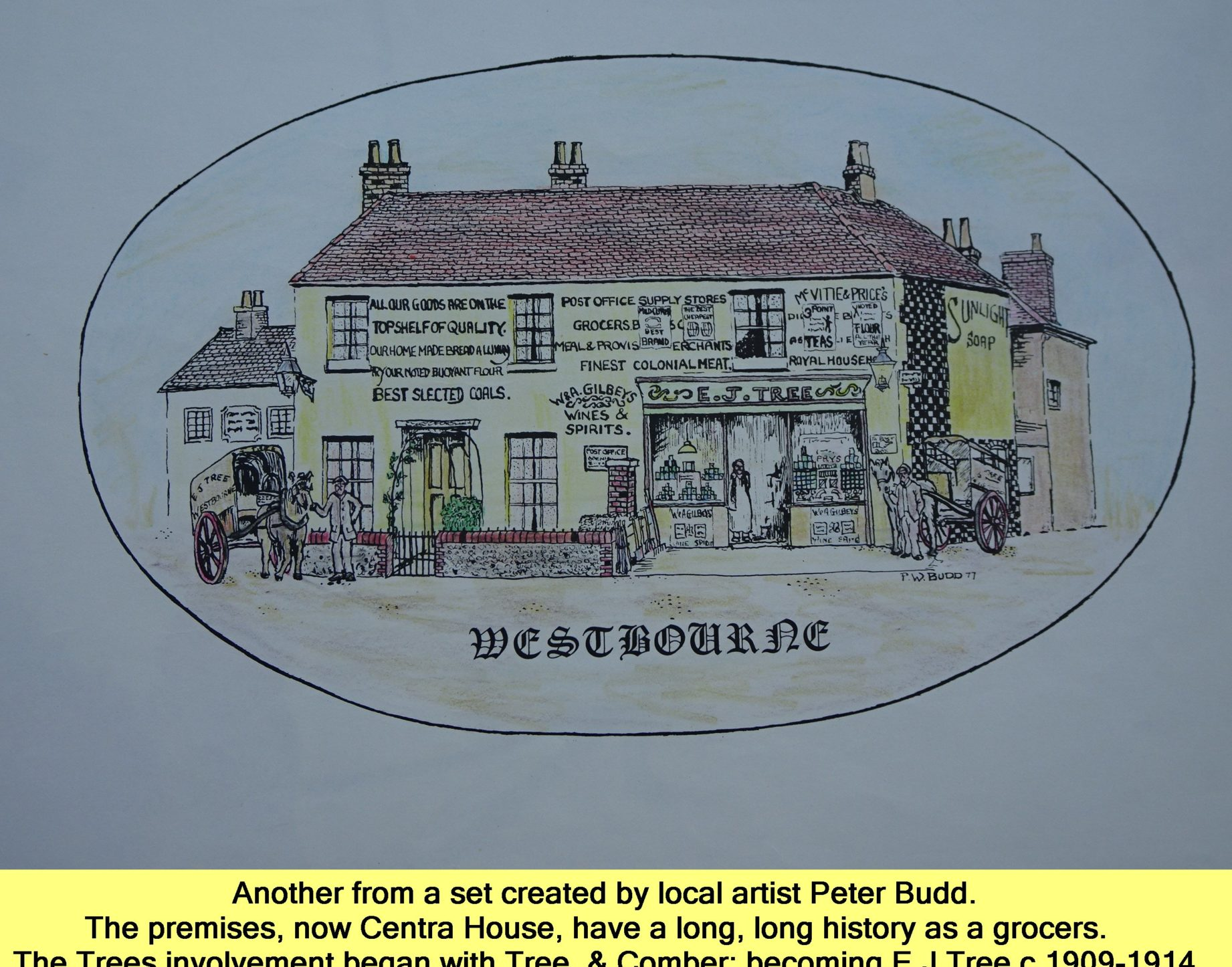 WESTBOURNE HISTORY PHOTO, SQUARE, GROCER, TREE, COMBER. MANCHIP, COUNTRY STORE, CENTRA