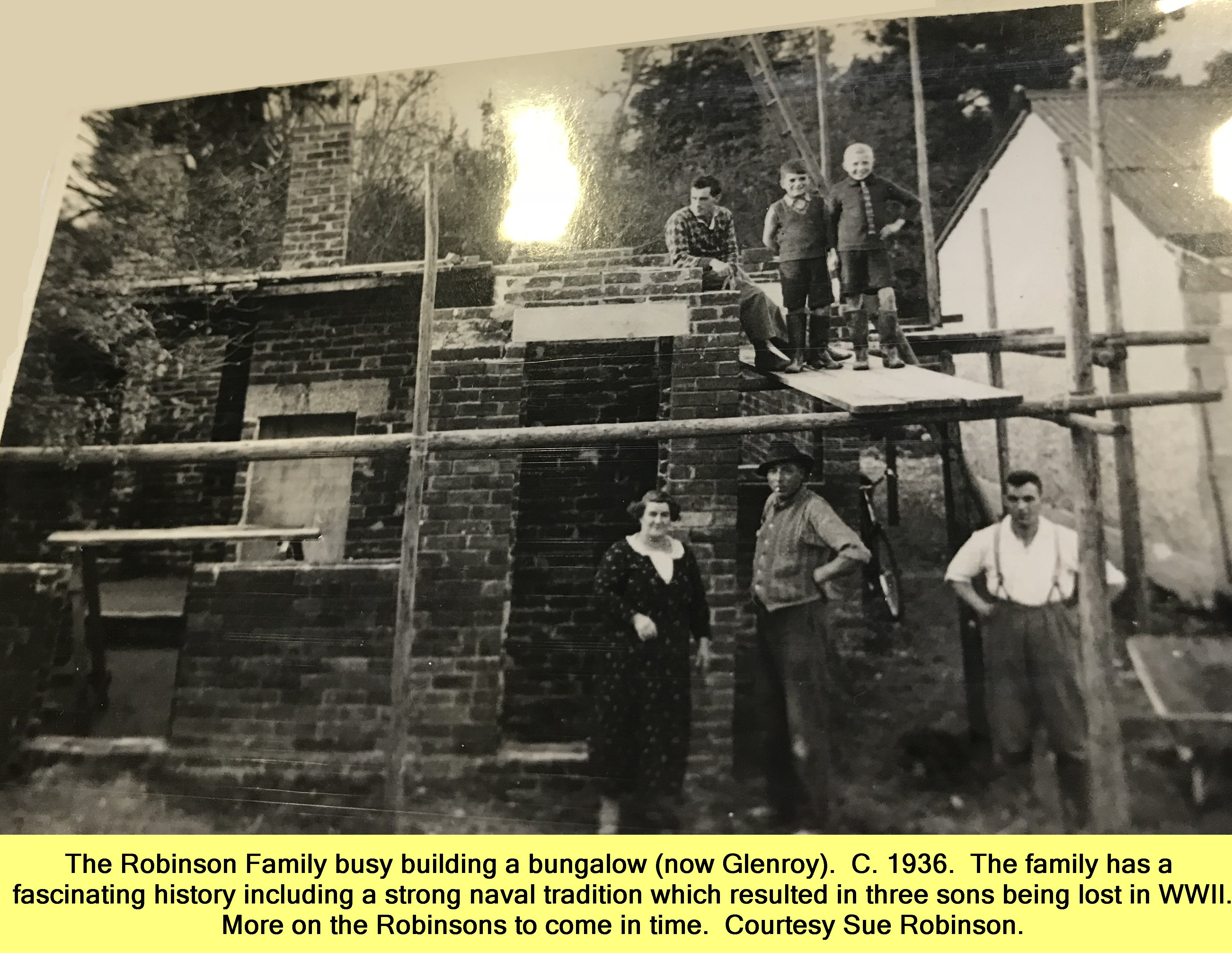 Robinson family building bungalow Glenroy