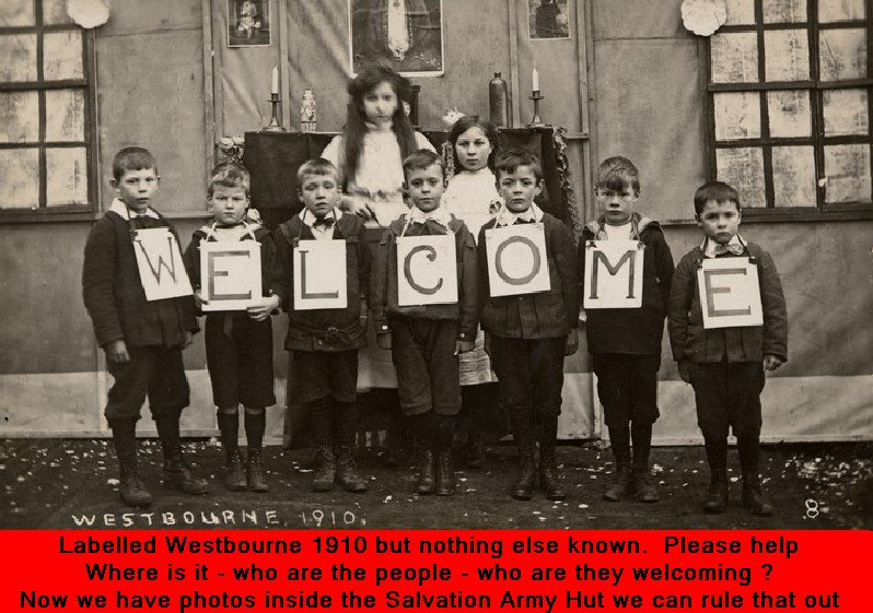WESTBOURNE HISTORY PHOTO, WELCOME, 1910