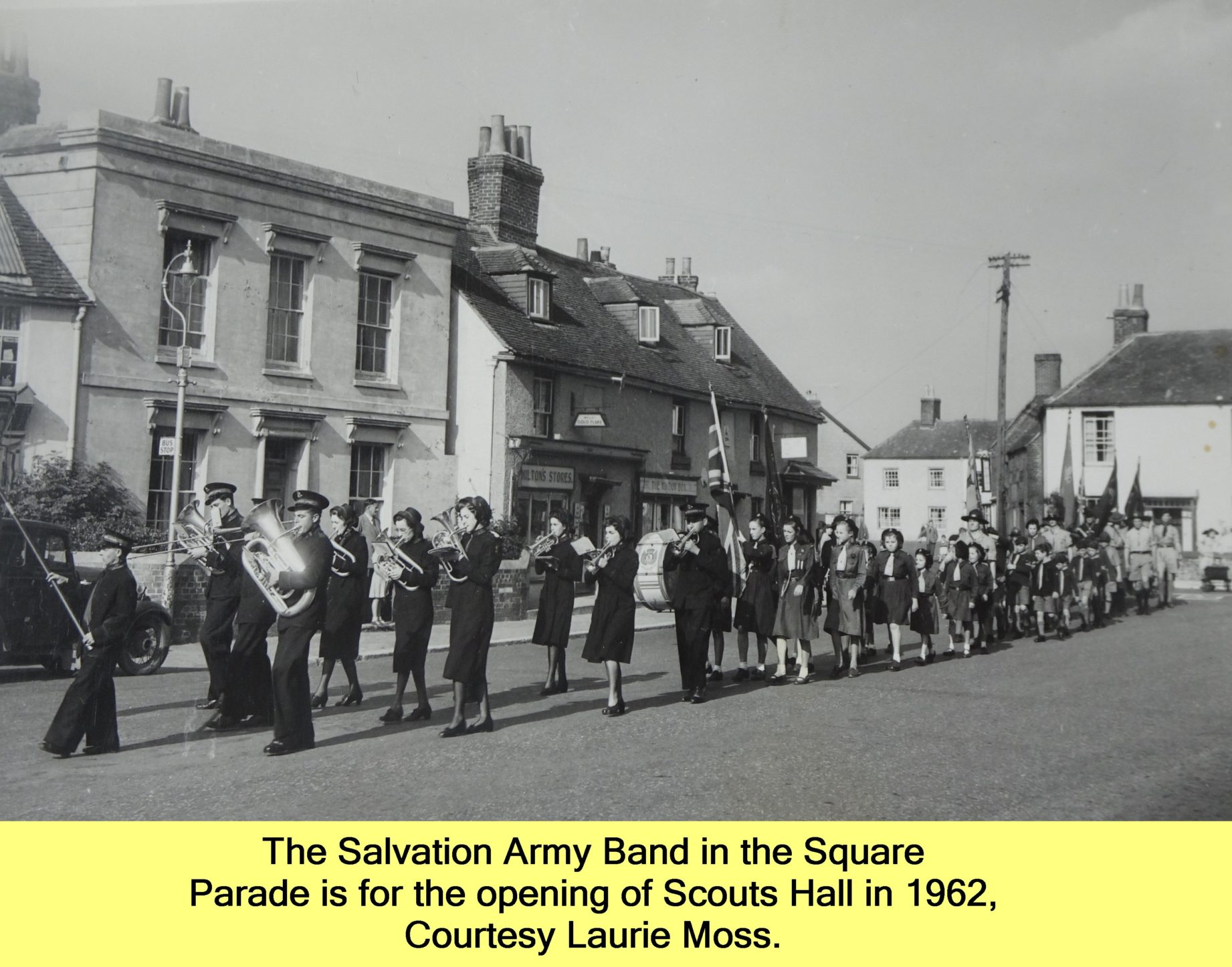 WESTBOURNE HISTORY PHOTO, SALVATION ARMY, BAND, SQUARE, SCOUTS, 1962