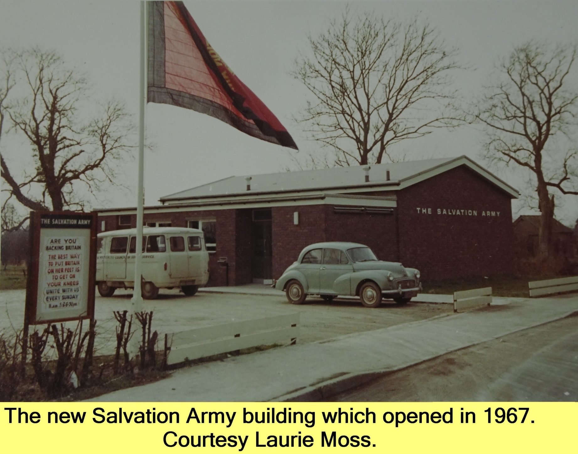 WESTBOURNE HISTORY PHOTO, SALVATION ARMY, BAND, NEW, BUILDING, 1967, LAURIE MOSS