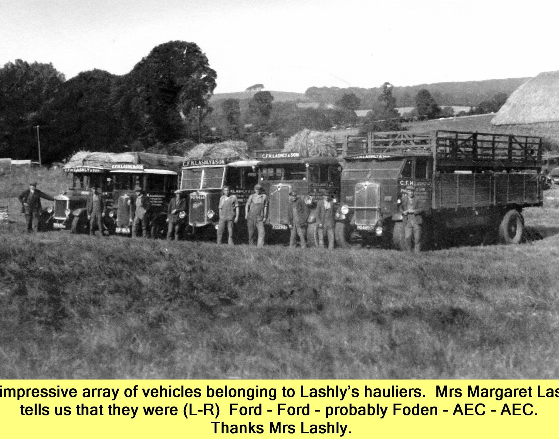 Lashly vehicles Ford - Ford - maybe Foden - AEC - AEC