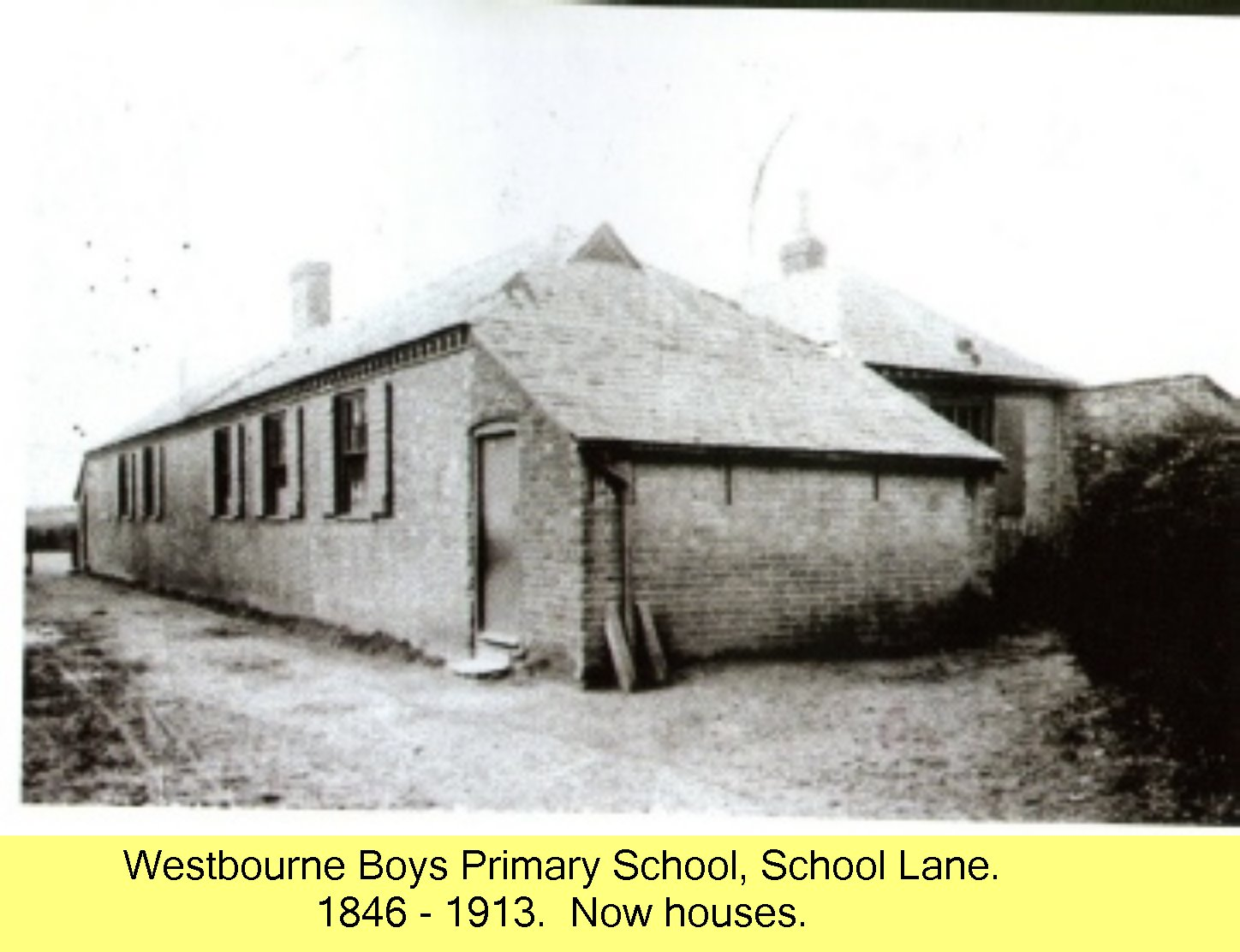 Westbourne Primary School - 1846 - 1913 }