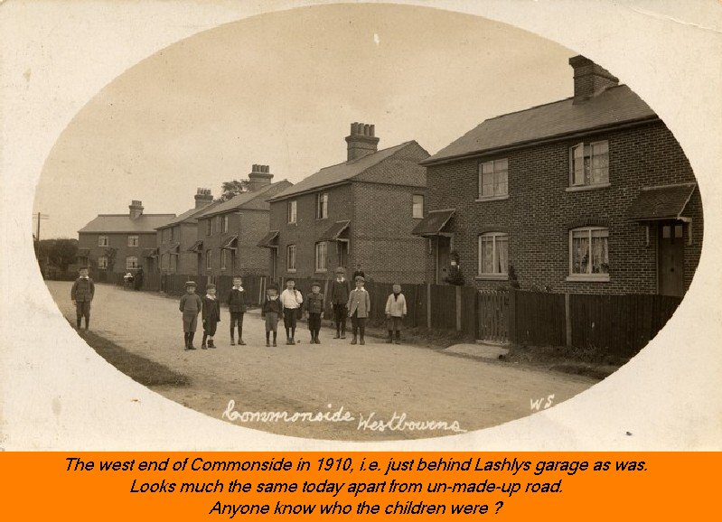 WESTBOURNE HISTORY PHOTO, COMMONSIDE, LASHLY, SEMI, CHILDREN, 1910