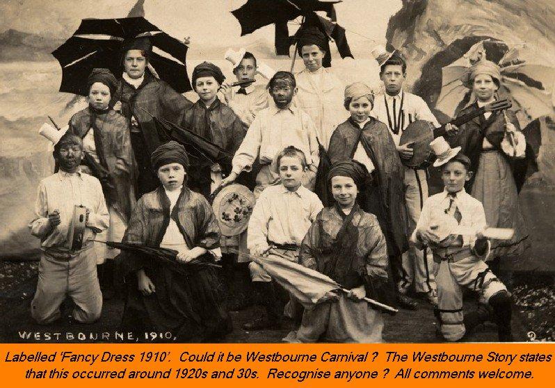 WESTBOURNE HISTORY PHOTO, FANCY DRESS, CARNIVAL, FETE, 1910