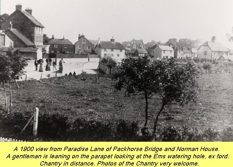 WESTBOURNE HISTORY PHOTO, PARADISE LANE, PACKHORSE, NORMAN HOUSE, CHANTRY