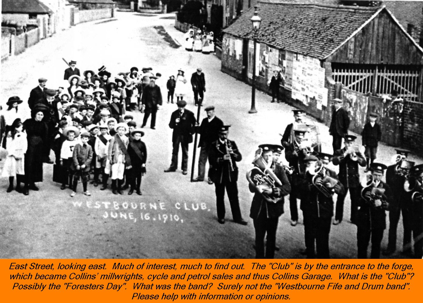 WESTBOURNE HISTORY PHOTO, EAST STREET, COLLINS, CLUB, BAND, FORESTERS