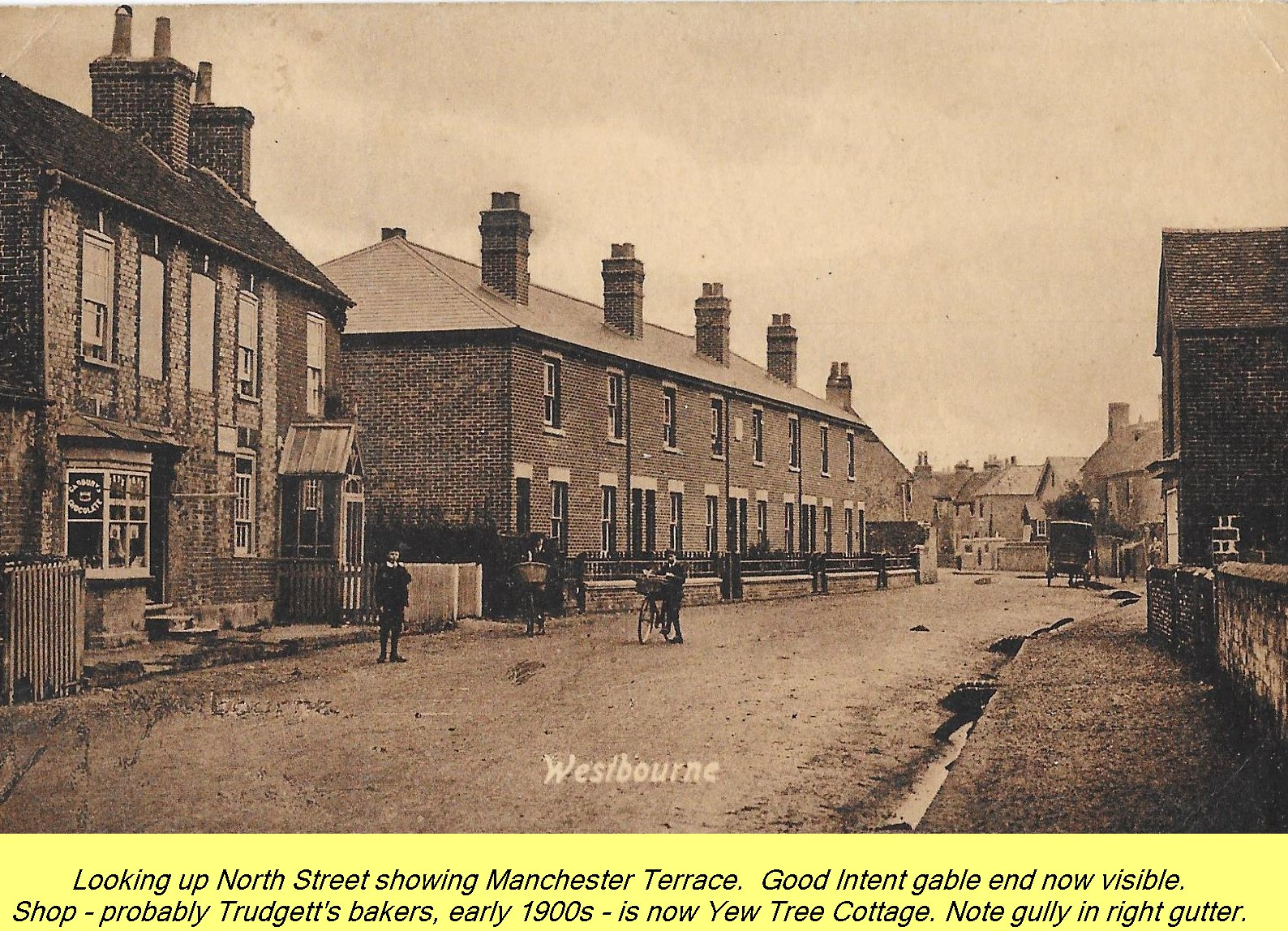 WESTBOURNE HISTORY PHOTO, NORTH STREET, MANCHESTER, TERRACE, GOOD INTENT, TRUDGETT, YEW TREE