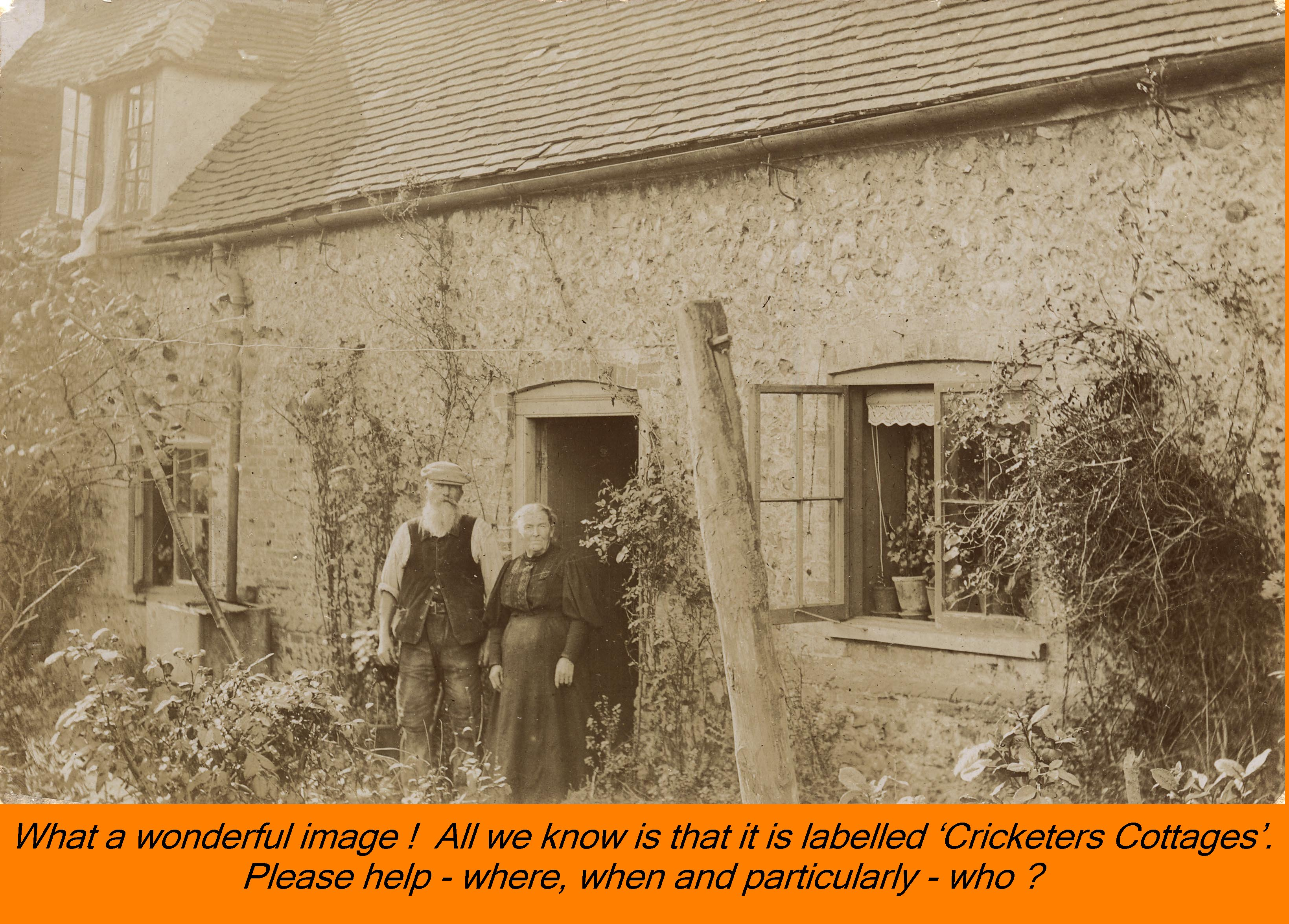 WESTBOURNE HISTORY PHOTO, CRICKETERS COTTAGES, MYSTERY
