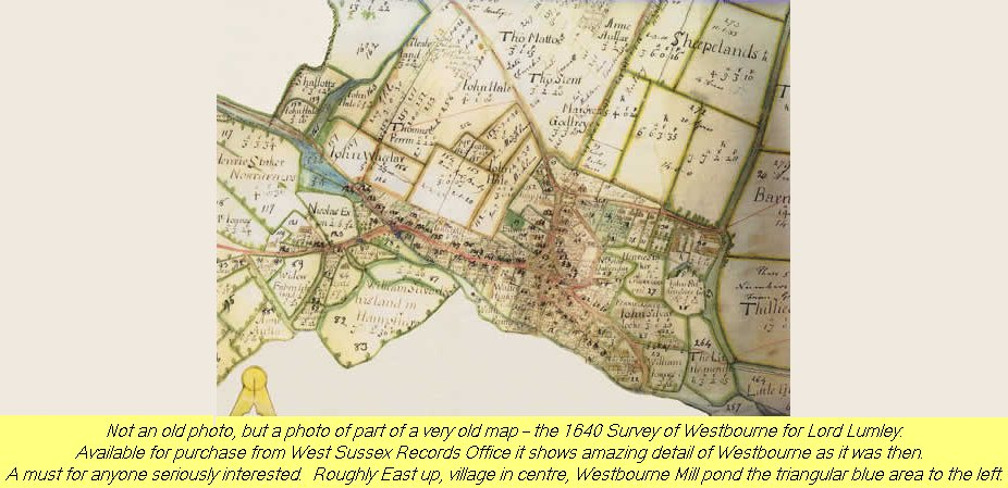 WESTBOURNE HISTORY PHOTO, MAP, 1640, LUMLEY, SURVEY