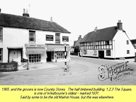 WESTBOURNE HISTORY PHOTO, SQUARE, COUNTRY STORES, CENTRA, TIMBERED, 1631
