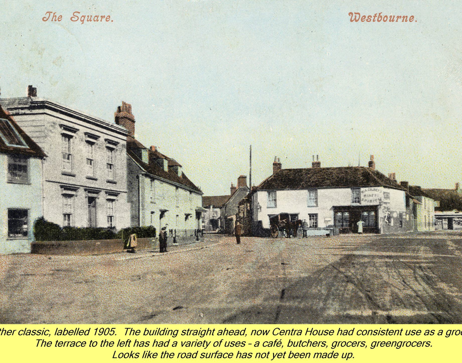 WESTBOURNE HISTORY PHOTO, SQUARE, COUNTRY STORES, CENTRA, SHOPS, 1905