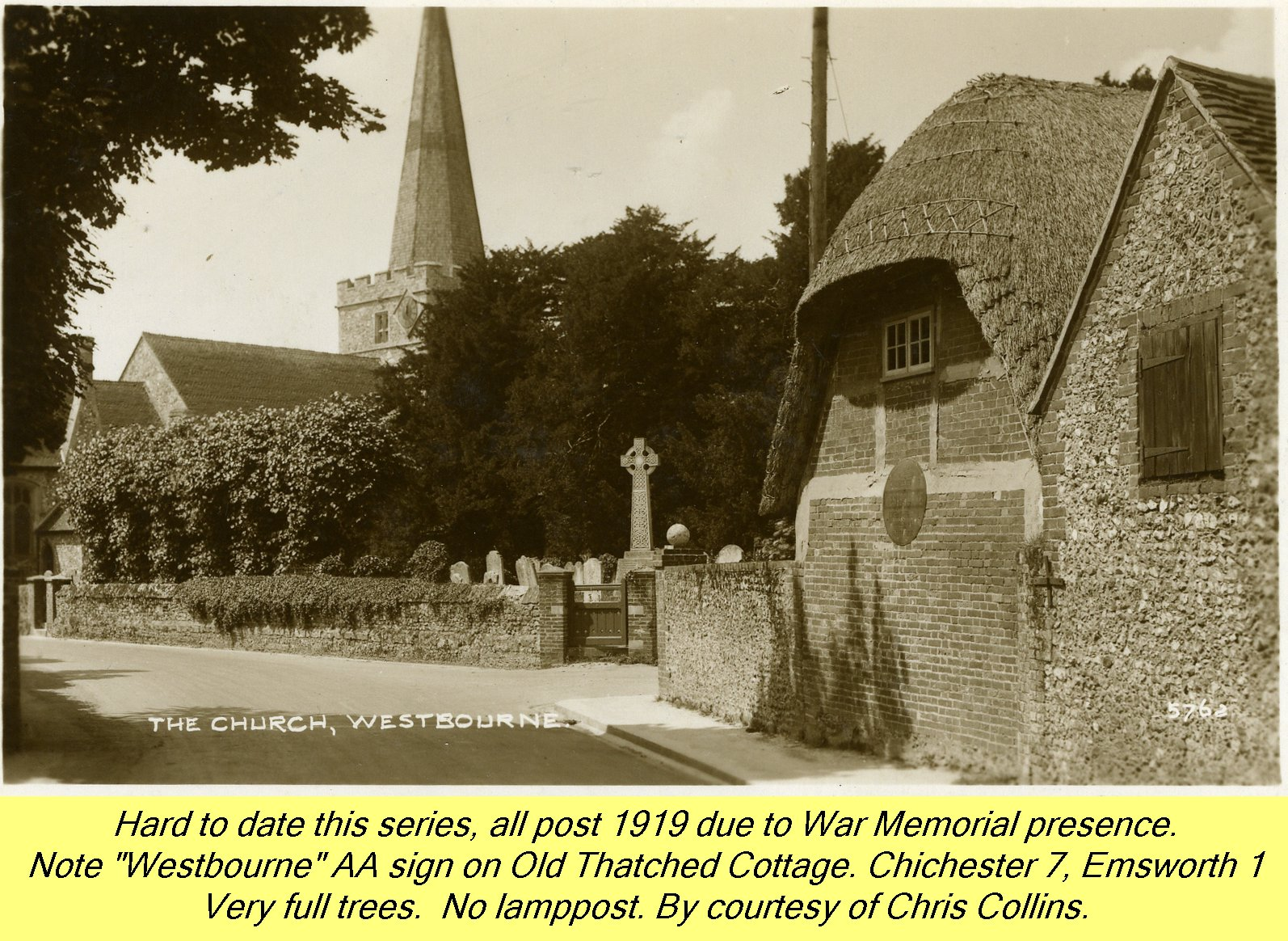 WESTBOURNE HISTORY PHOTO, CHURCH, St. JOHN, YEW, INTERIOR, SCREEN, MEMORIAL