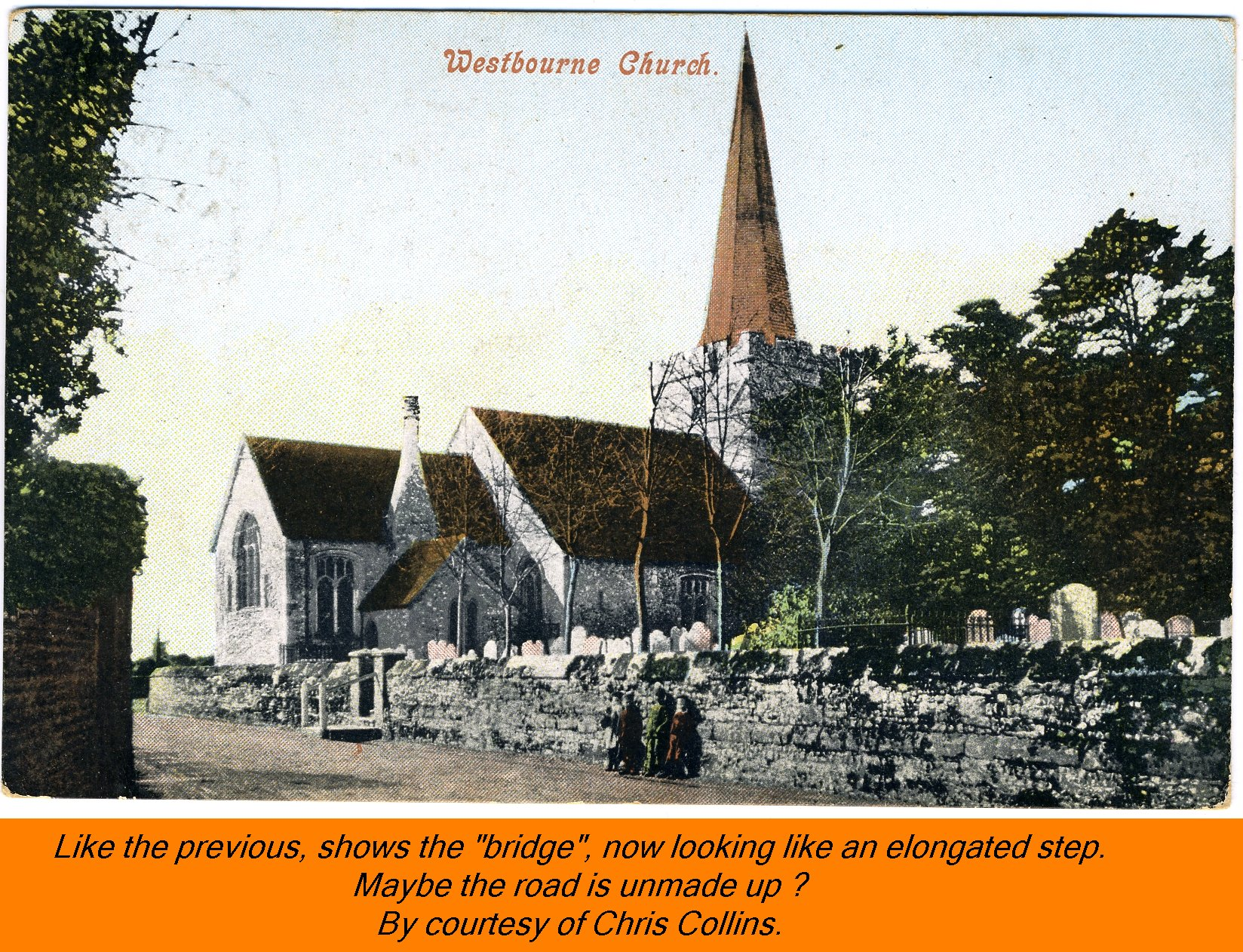 WESTBOURNE HISTORY PHOTO, CHURCH, St. JOHN, YEW, INTERIOR, SCREEN, CHURCHYARD