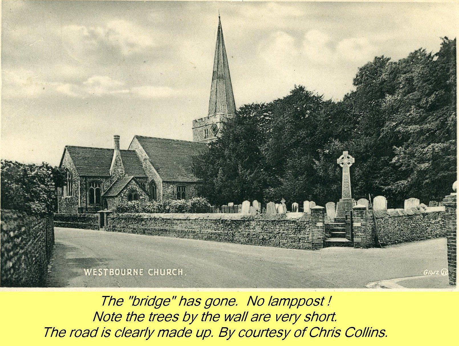 WESTBOURNE HISTORY PHOTO, CHURCH, St. JOHN, YEW, INTERIOR, SCREEN, MEMORIAL