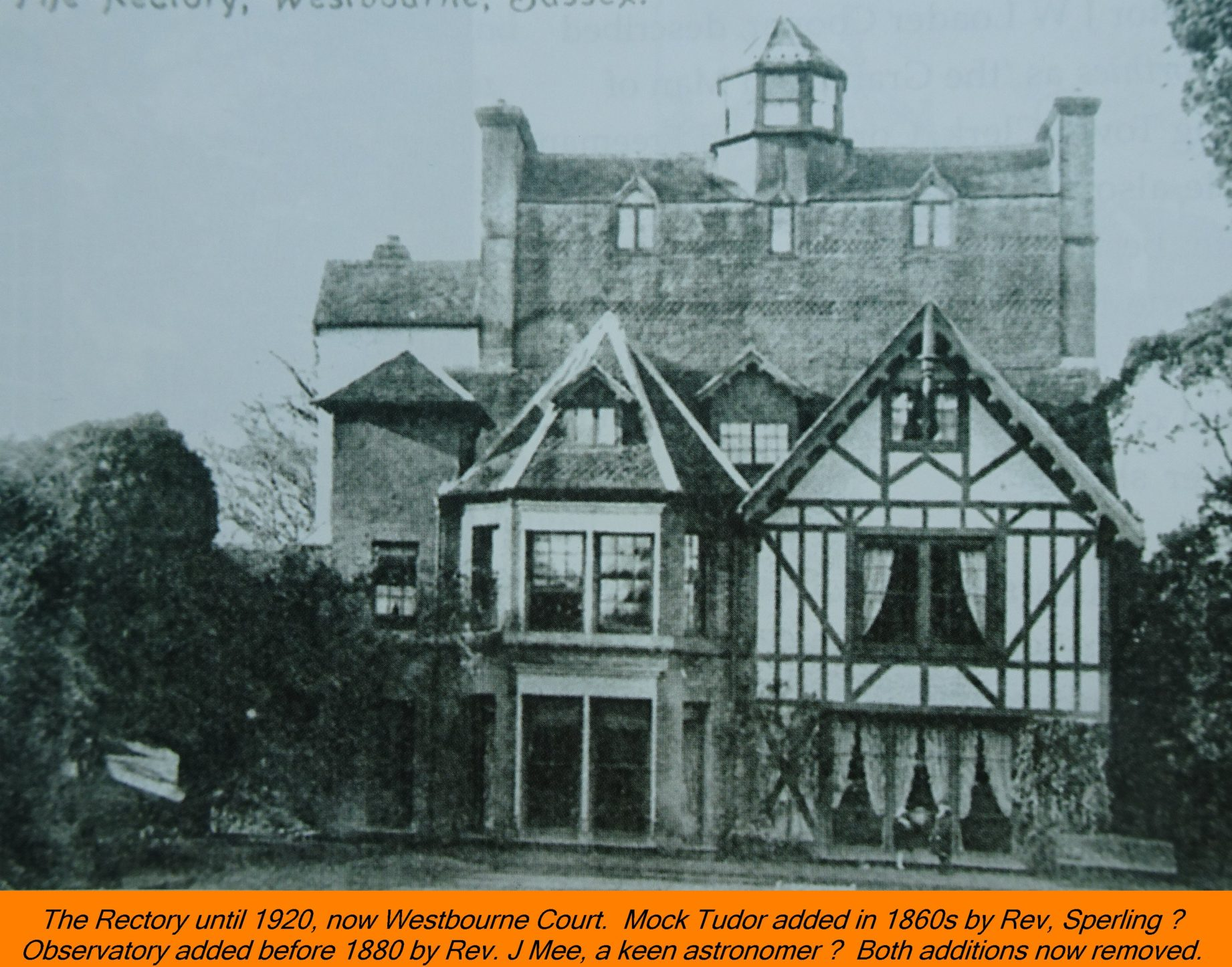 WESTBOURNE HISTORY PHOTO, RECTORY, WESTBOURNE COURT, SPERLING, Mee