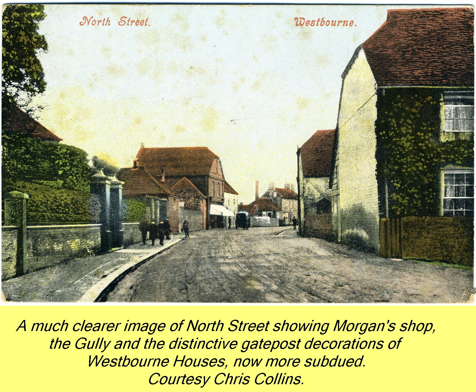 WESTBOURNE HISTORY PHOTO, NORTH STREET, MORGAN, SHOP, GULLY, WESTBOURNE HOUSE