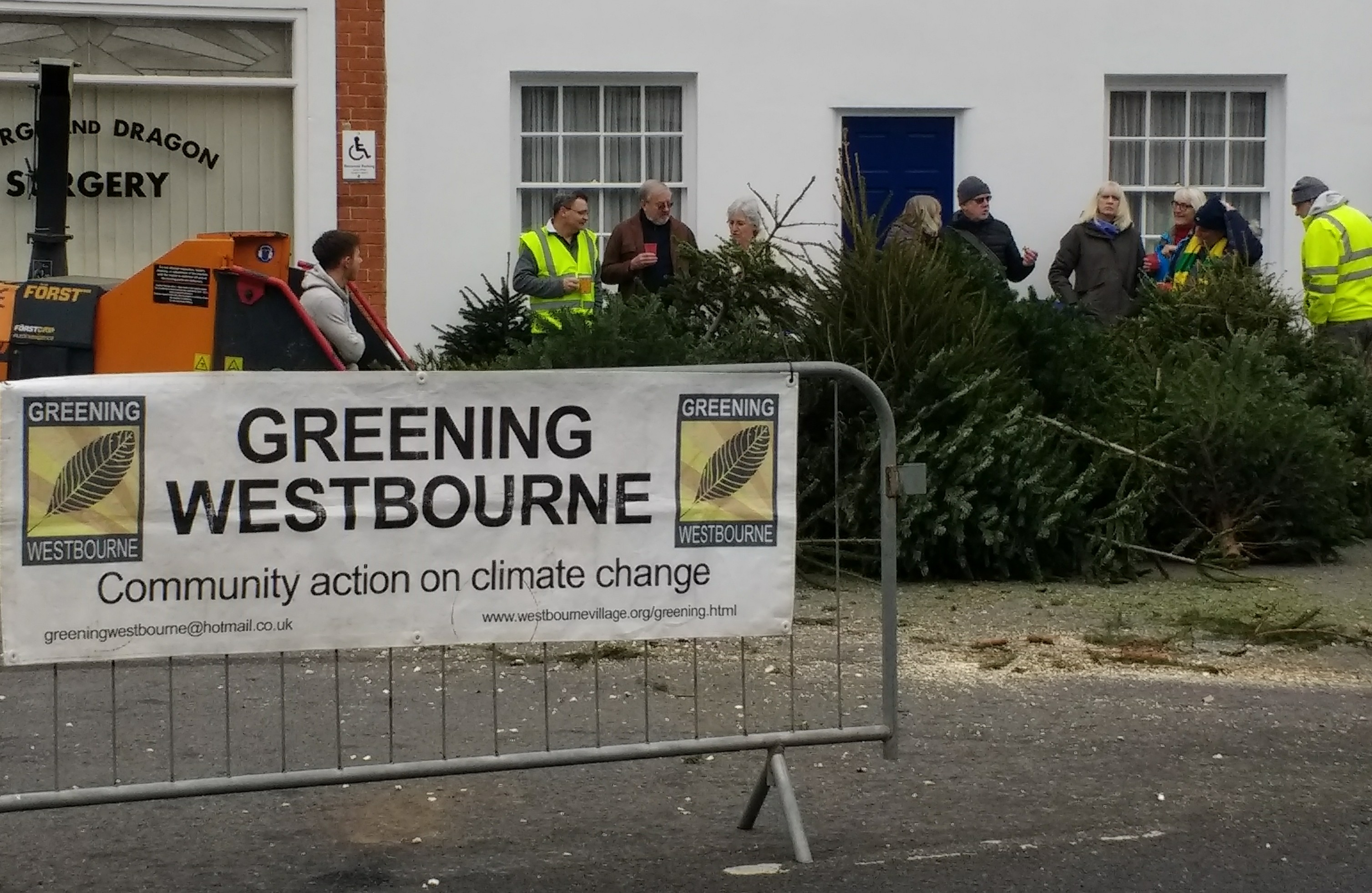 A record 203 Christmas trees recycled!