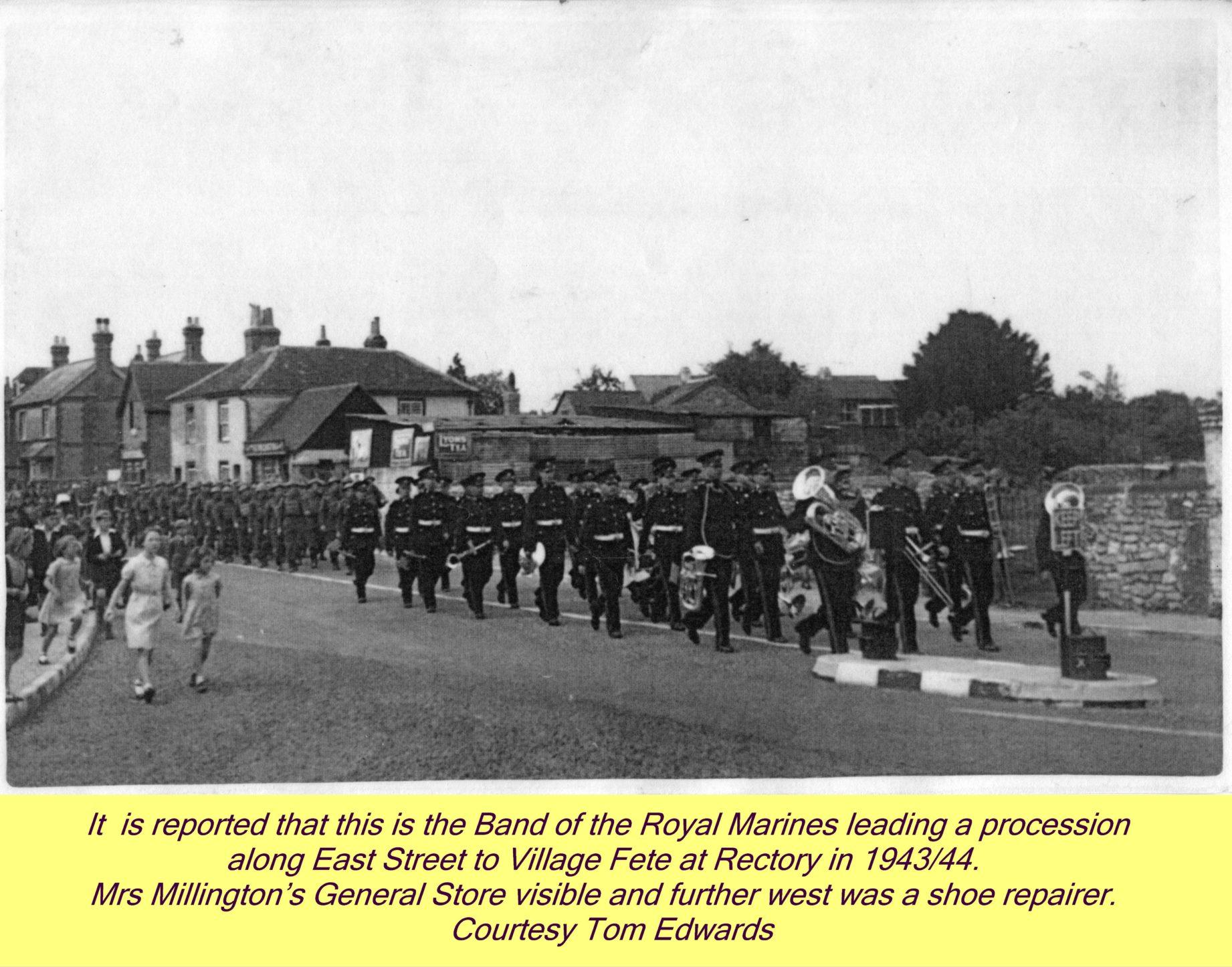 WESTBOURNE HISTORY PHOTO, EAST STREET, MARINES, FETE, WWII, MILLINGTON