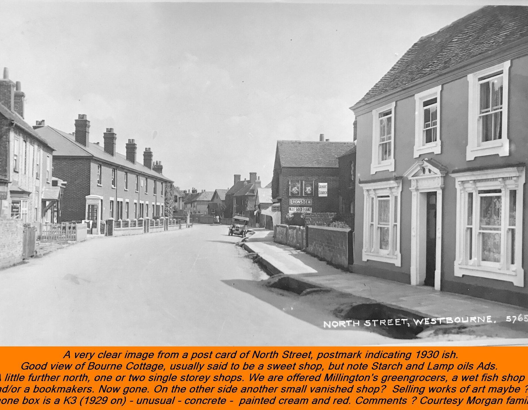 WESTBOURNE HISTORY PHOTO, NORTH STREET, BORNE COTTAGE, MILLINGTON, K3 PHONE BOX