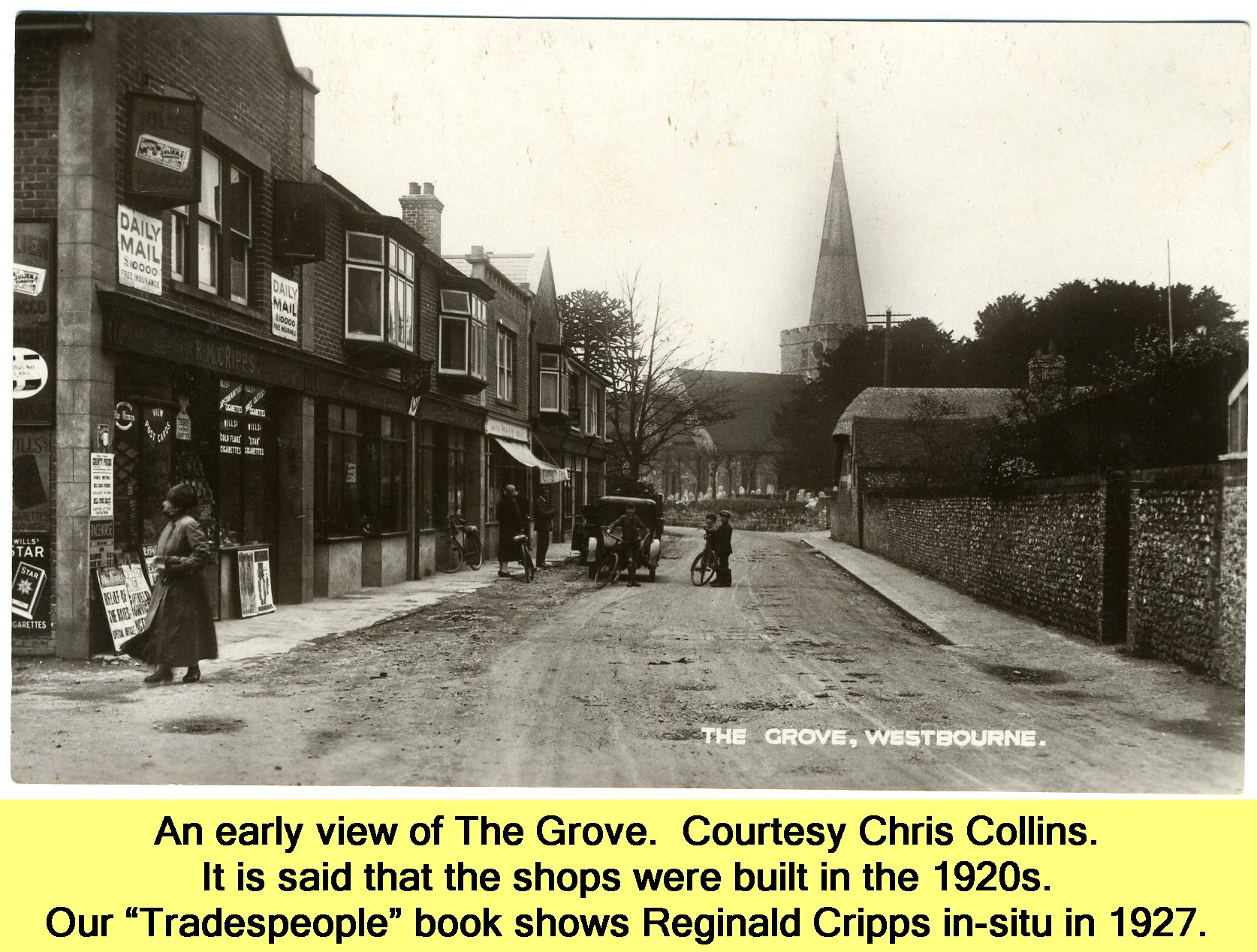 WESTBOURNE HISTORY PHOTO, GROVE, SHOPS, CRIPPS, TRADESPEOPLE