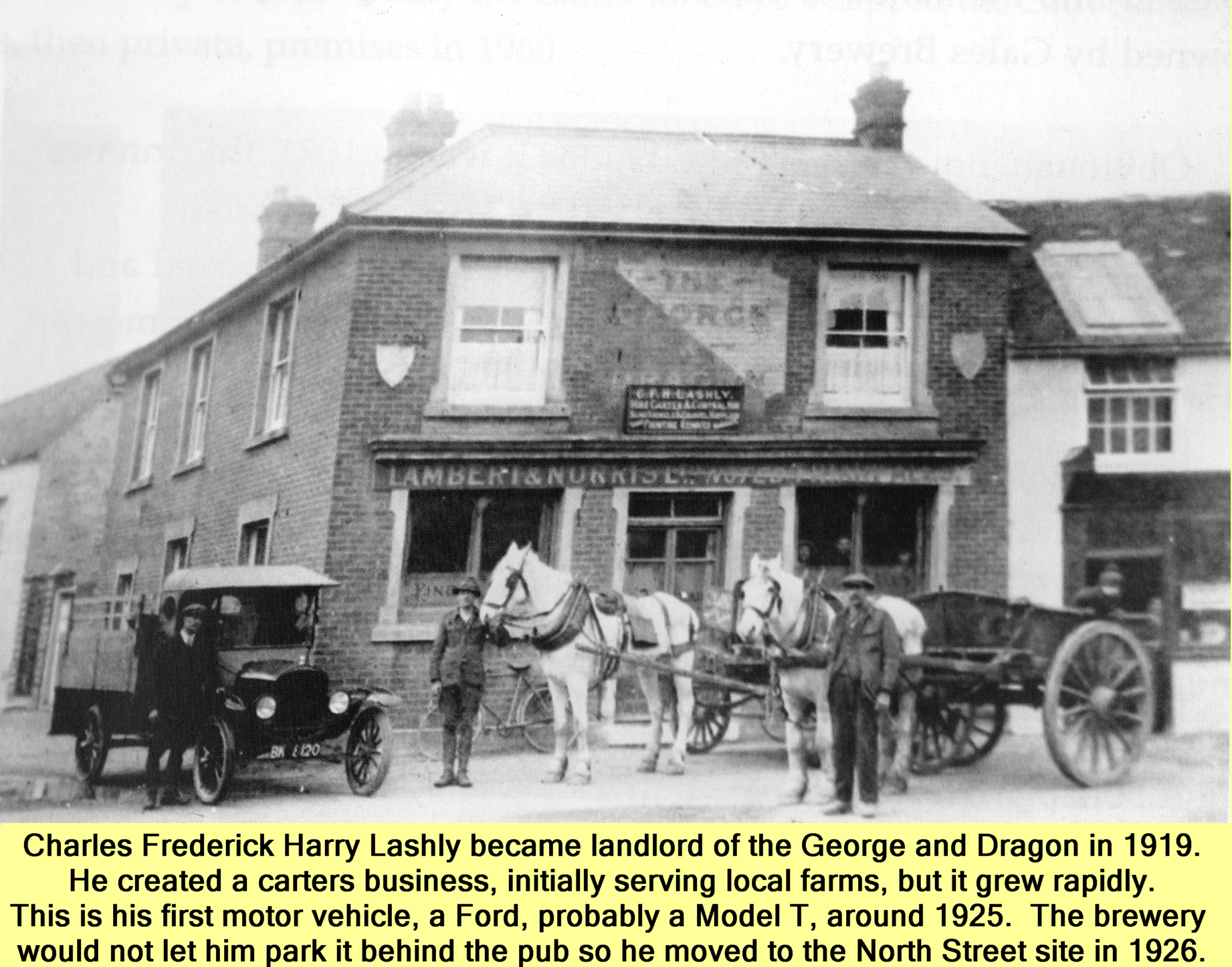 Westbourne history photo, George and Dragon, Lashly