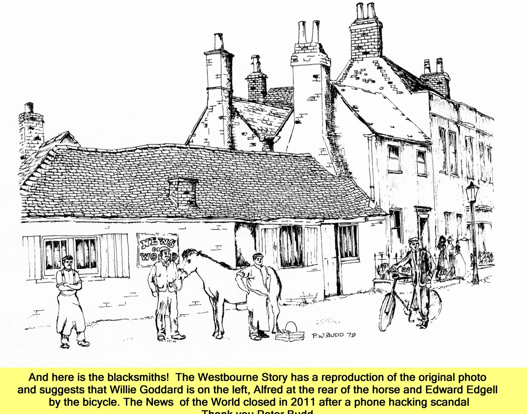 WESTBOURNE HISTORY PHOTO, GODDARD, BLACKSMITH , FOXBURY LANE