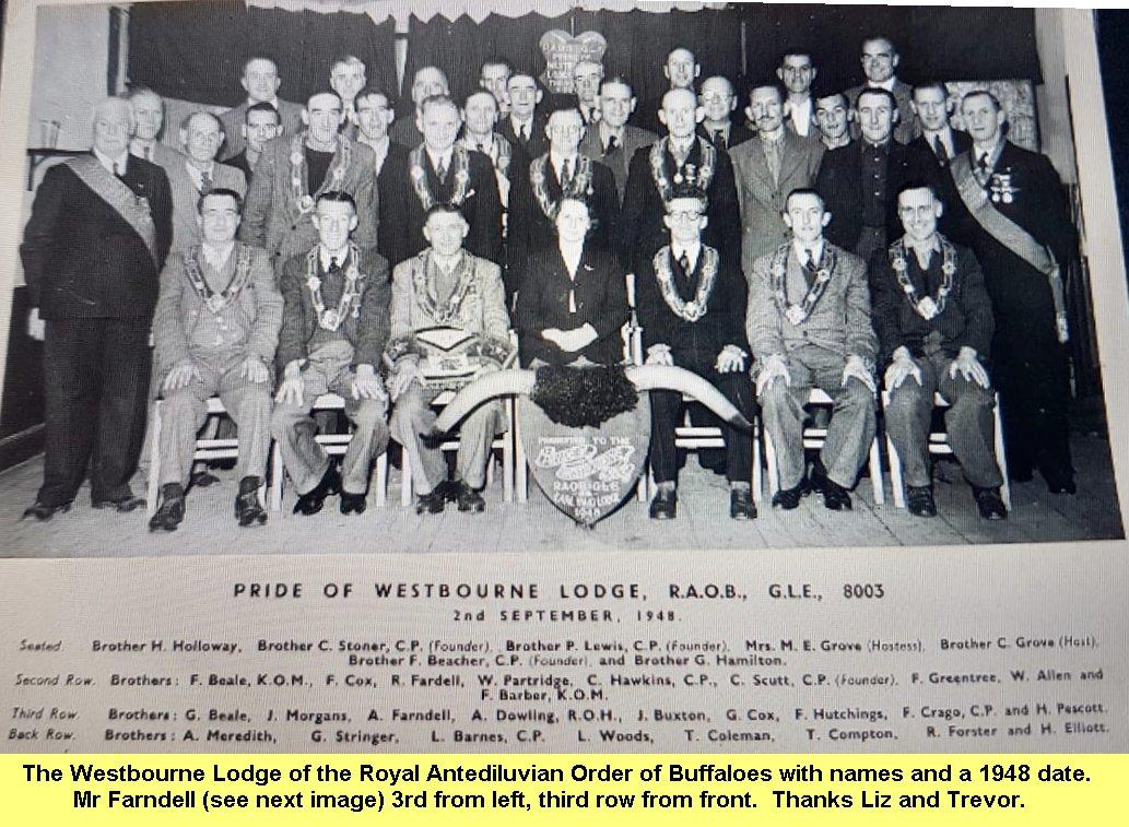 WESTBOURNE HISTORY PHOTO, RAOB Lodge 1948
