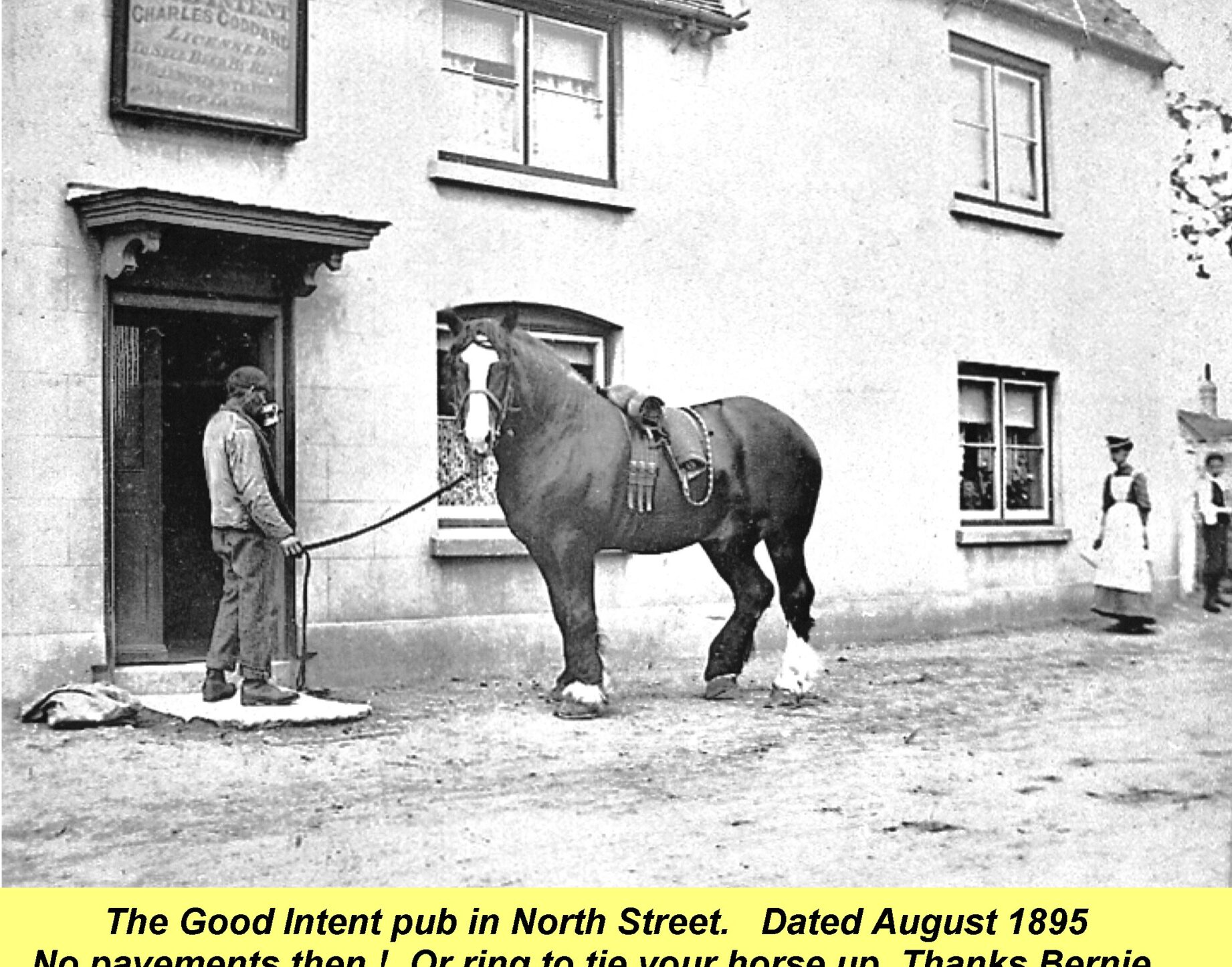WESTBOURNE HISTORY PHOTO, Good Intent Pub, Shire horse
