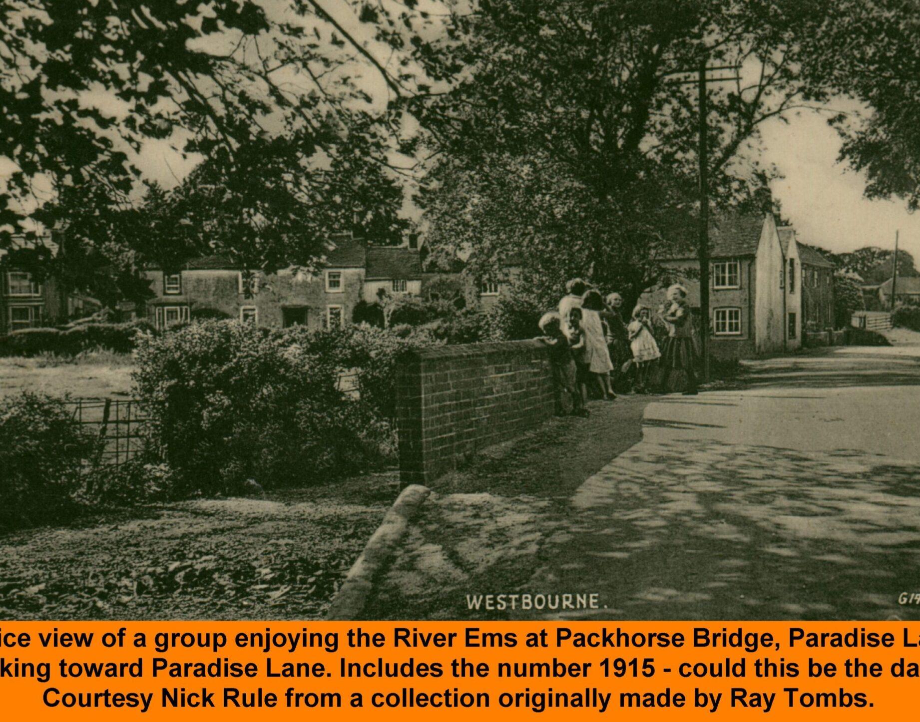 WESTBOURNE HISTORY PHOTO, Packhorse bridge, Paradise Lane