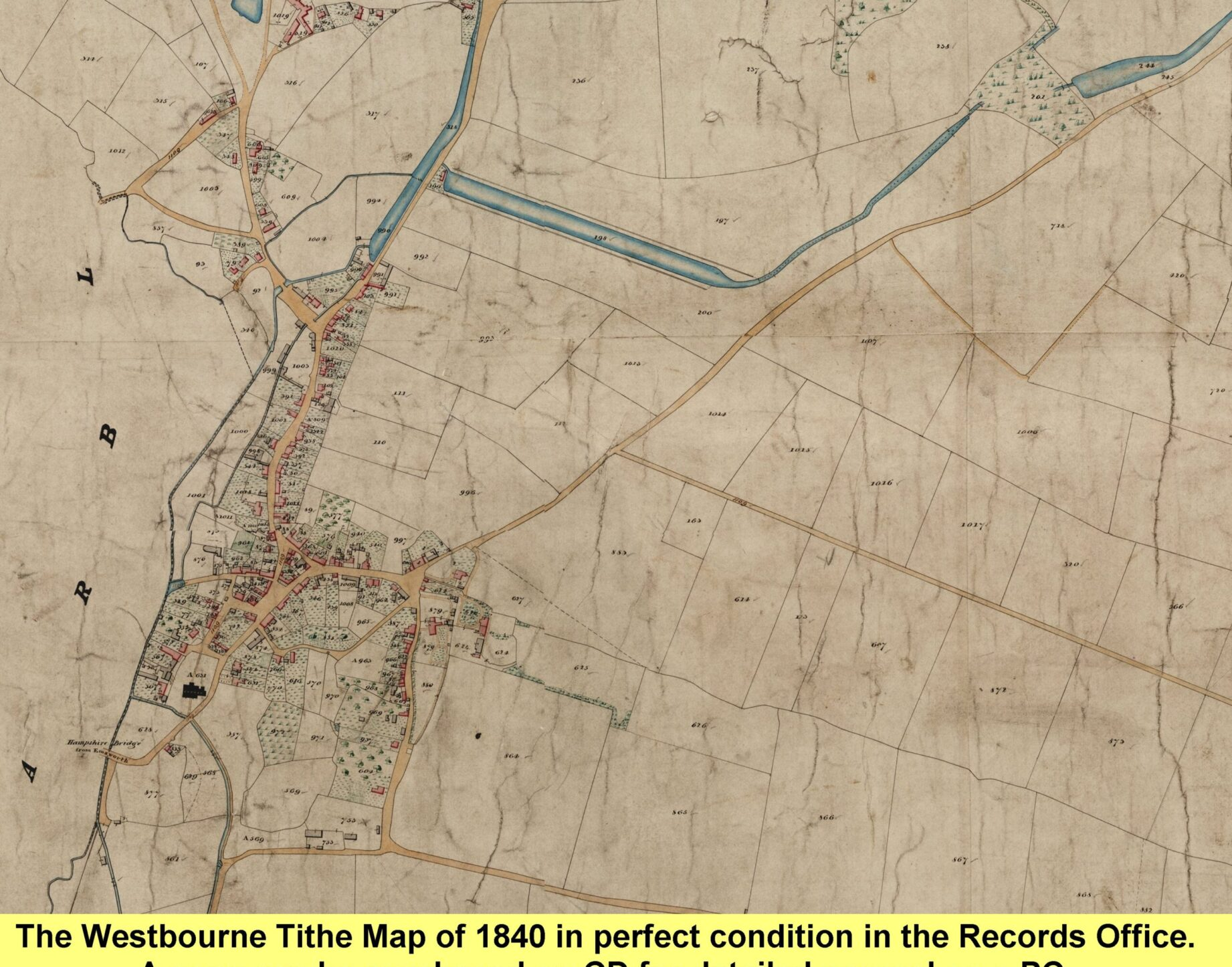 WESTBOURNE HISTORY PHOTO, 1840 tithe map
