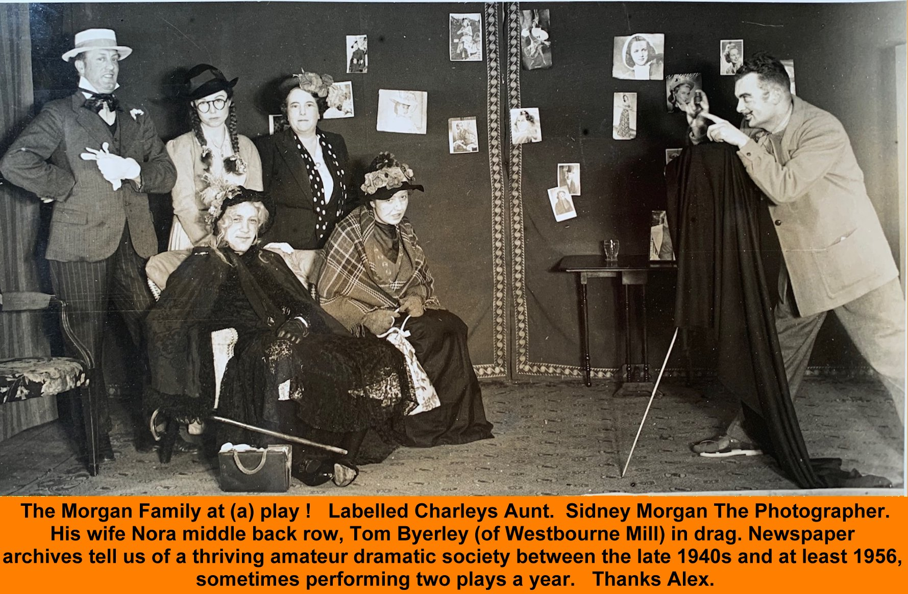 WESTBOURNE HISTORY PHOTO, Morgan, Sidney, Nora, Byerley, Charleys Aunt, Amateur Dramatics,