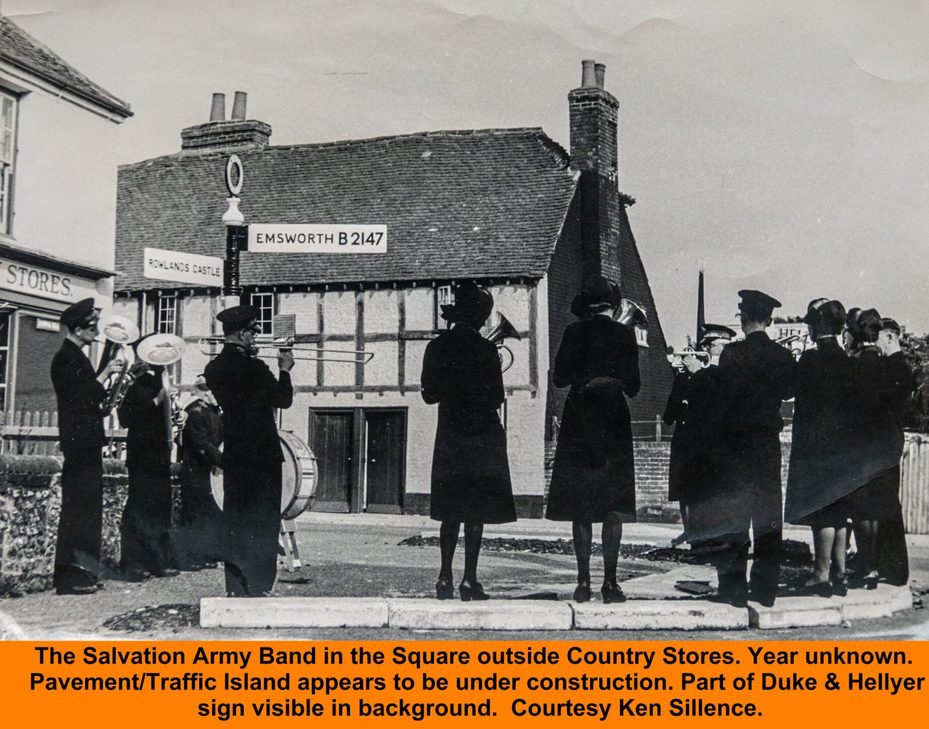 WESTBOURNE HISTORY PHOTO, SALVATION ARMY, BAND, SQUARE, Hellyer