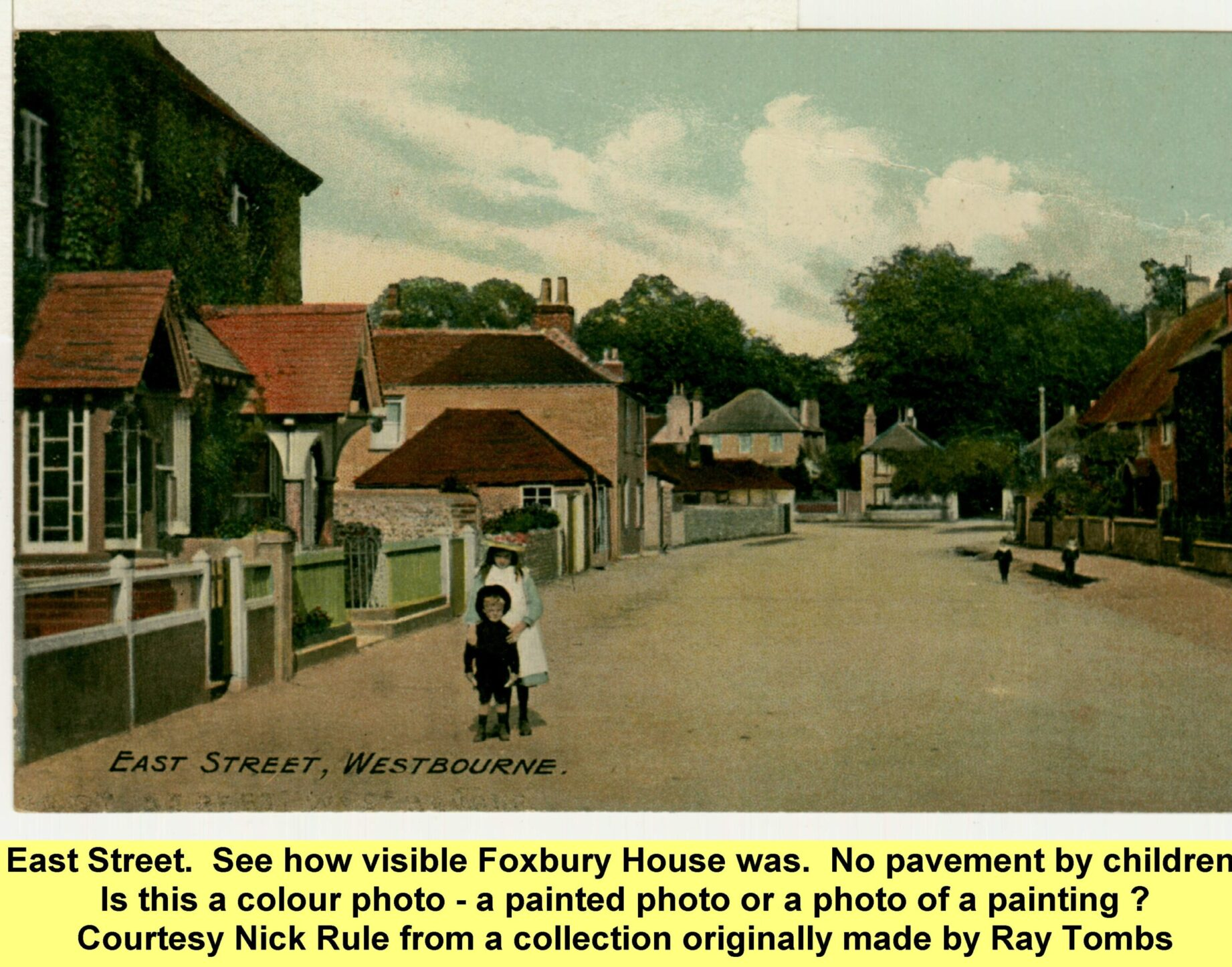 WESTBOURNE HISTORY PHOTO, EAST STREET,Foxbury, painting