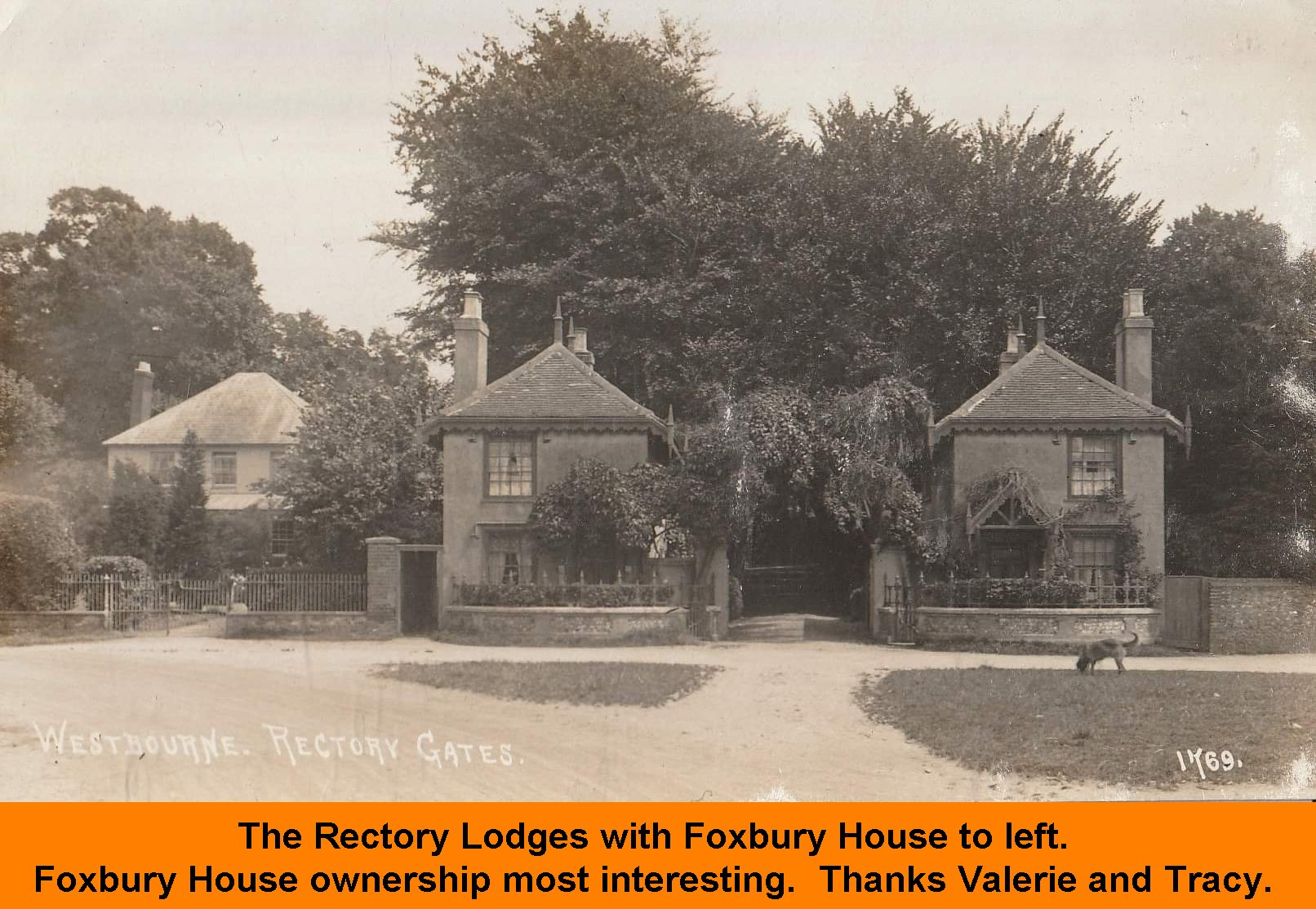 WESTBOURNE HISTORY PHOTO,-Rectory-Lodges-with-Foxbury