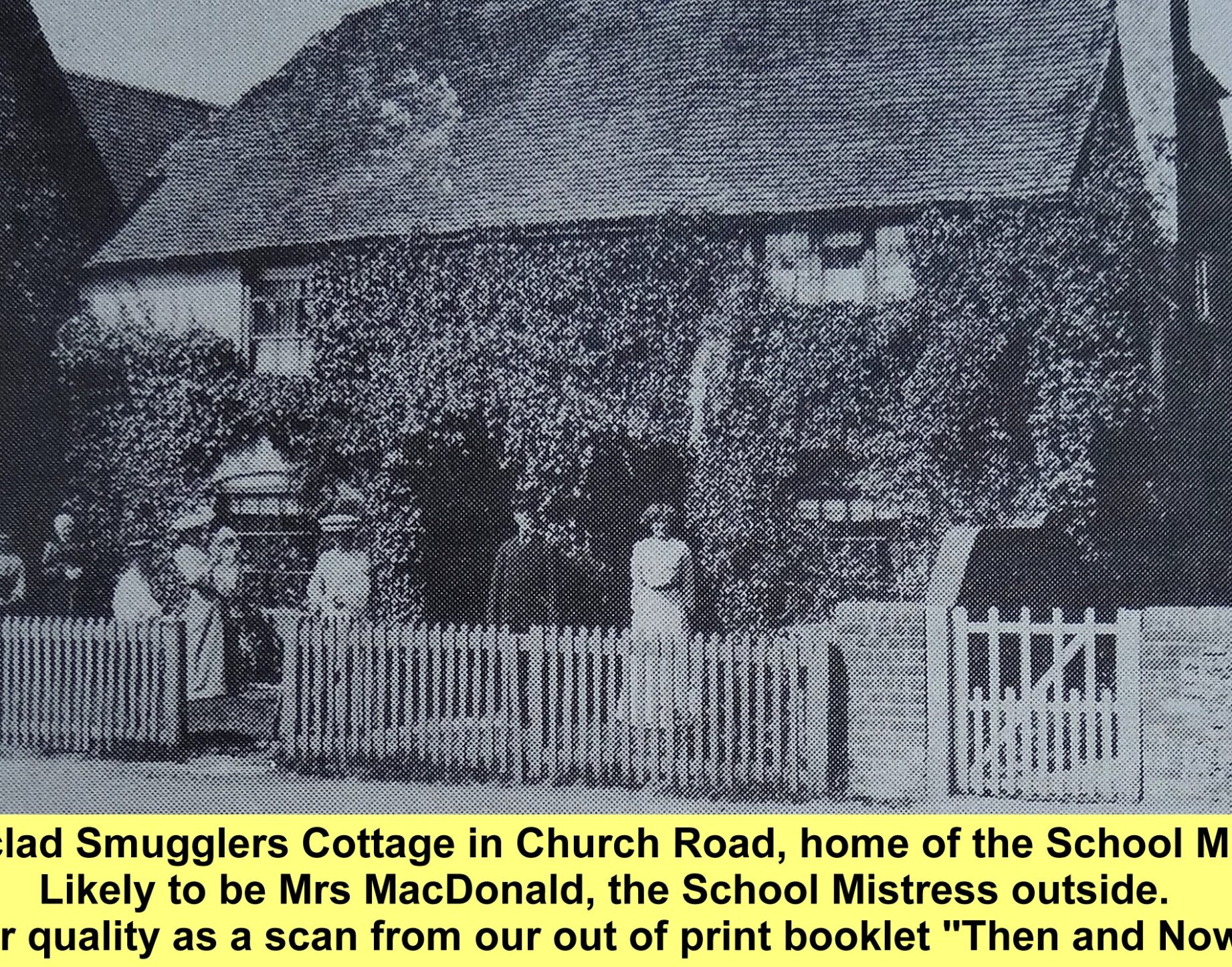 WESTBOURNE HISTORY PHOTO, SMUGGLERS COTTAGE, SCHOOL HOUSE, MACDONALD,