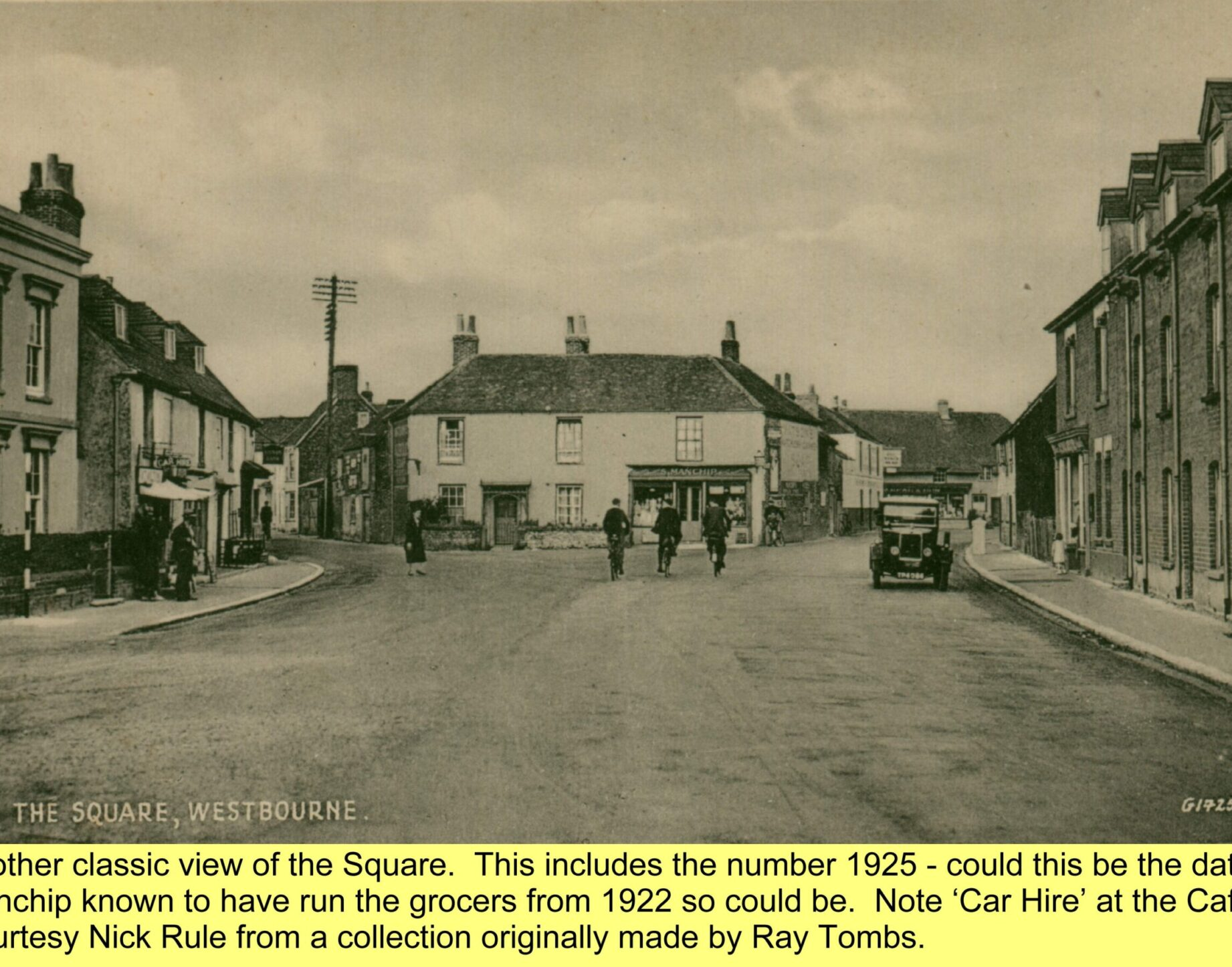 WESTBOURNE HISTORY PHOTO, SQUARE, GROCER, TREE, COMBER. MANCHIP, COUNTRY STORE, CENTRA, CAFE. CAR HIRE