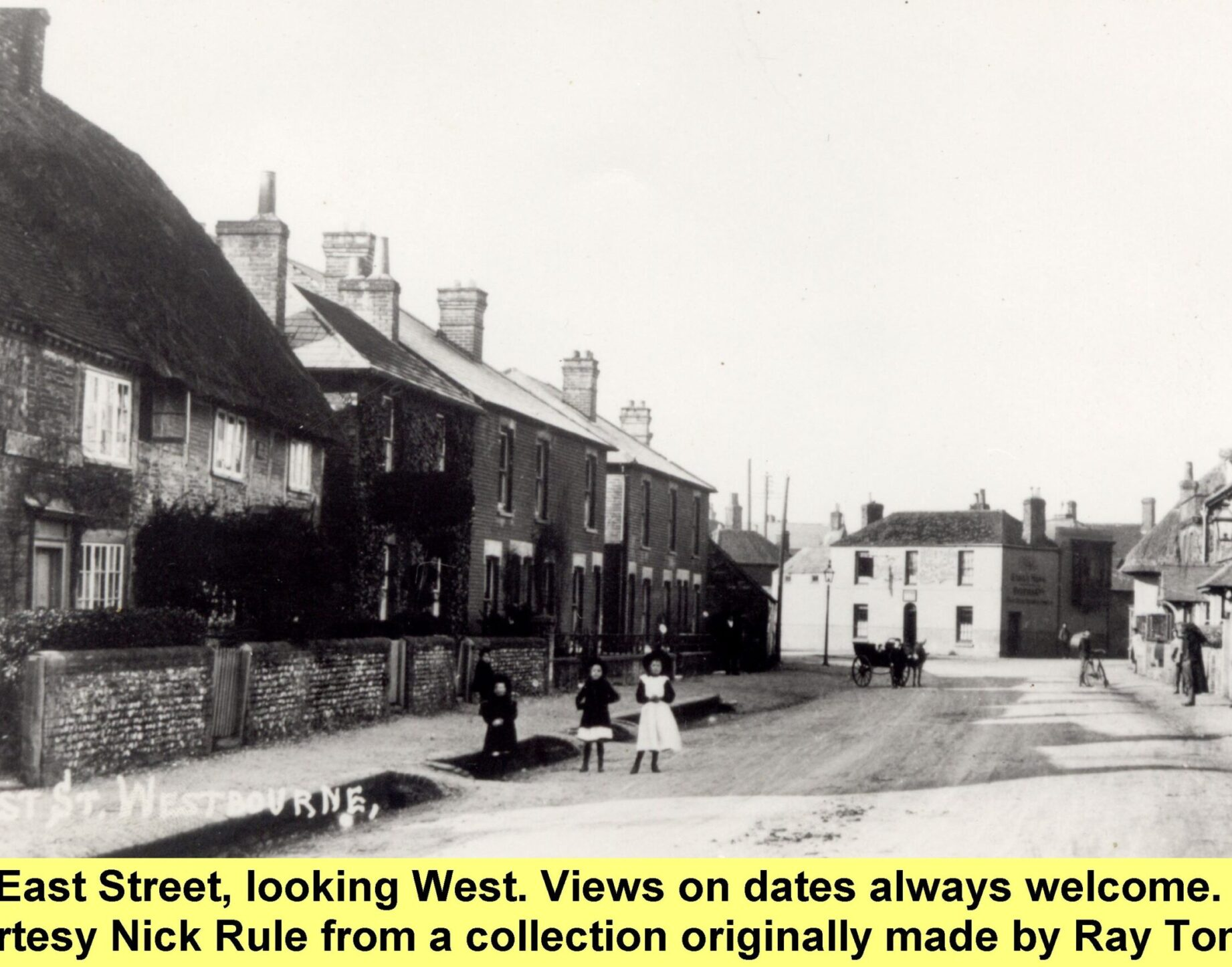 WESTBOURNE HISTORY PHOTO, EAST STREET,OPEN DRAIN