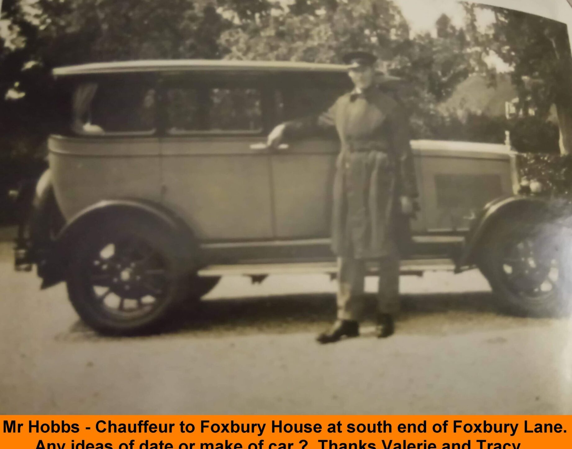 WESTBOURNE HISTORY PHOTO, FOXBURY HOUSE,-Hobbs-Chauffeur