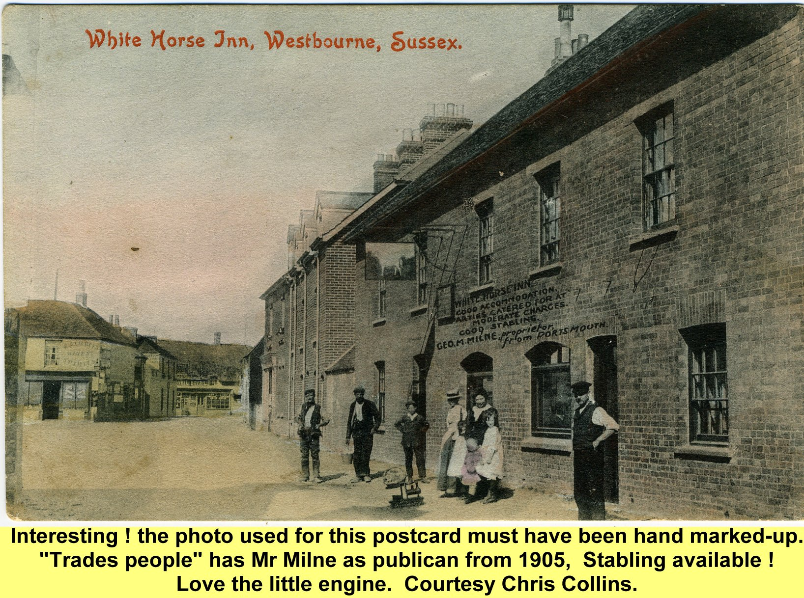WESTBOURNE HISTORY PHOTO, WHITE HORSE, 1905, MILNE