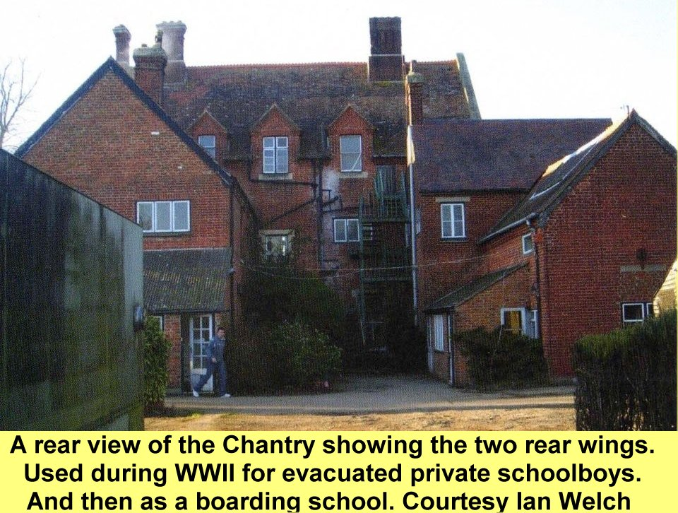 WESTBOURNE HISTORY PHOTO, THE CHANTRY FARM REAR VIEW