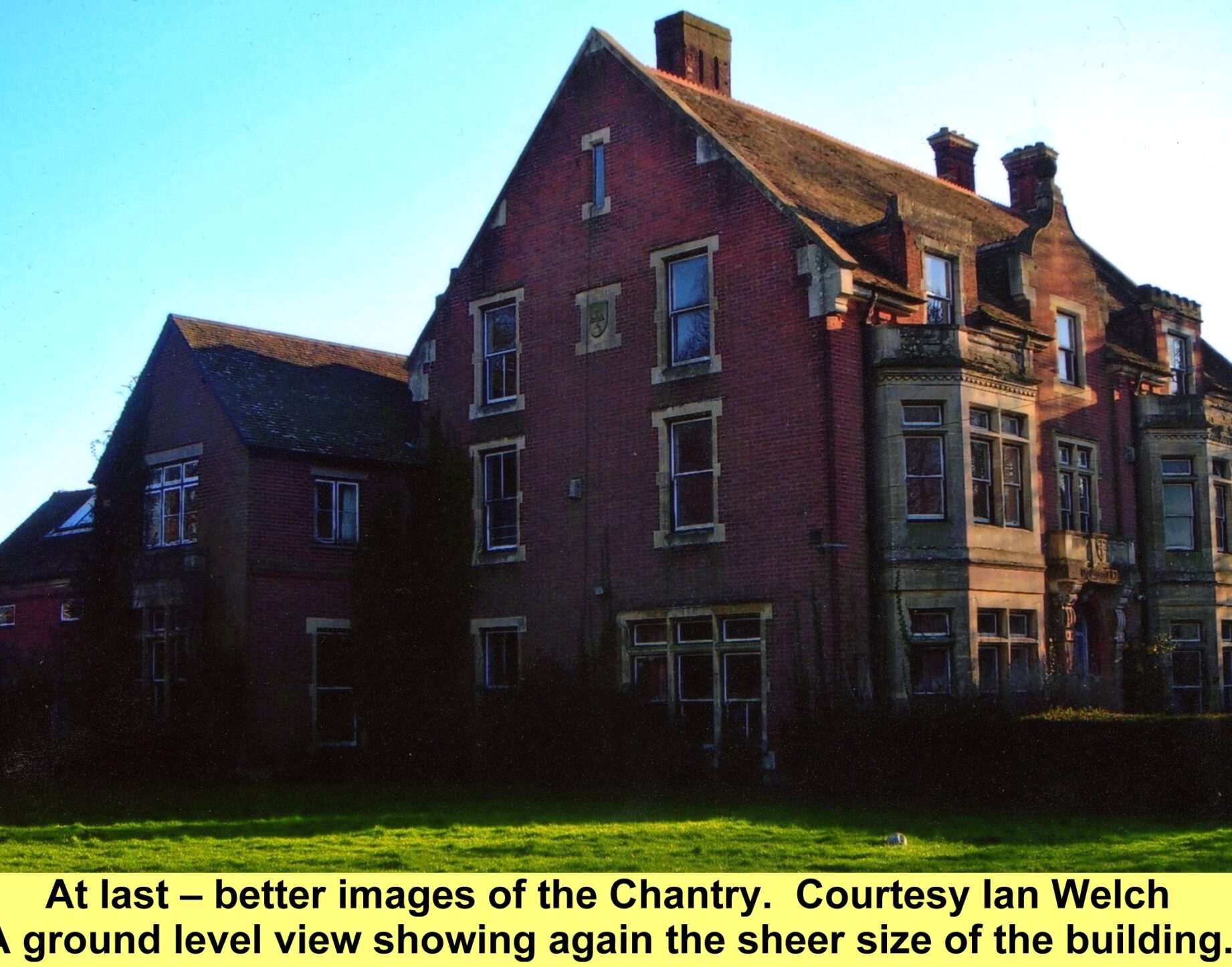 WESTBOURNE HISTORY PHOTO, THE CHANTRY FARM SIDE VIEW