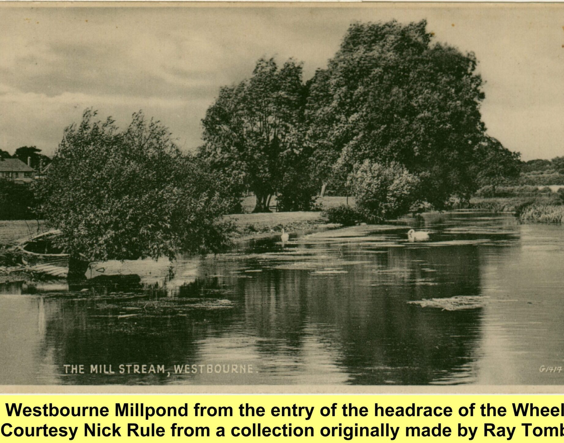 WESTBOURNE HISTORY PHOTO, WESTBOURNE MILLPOND