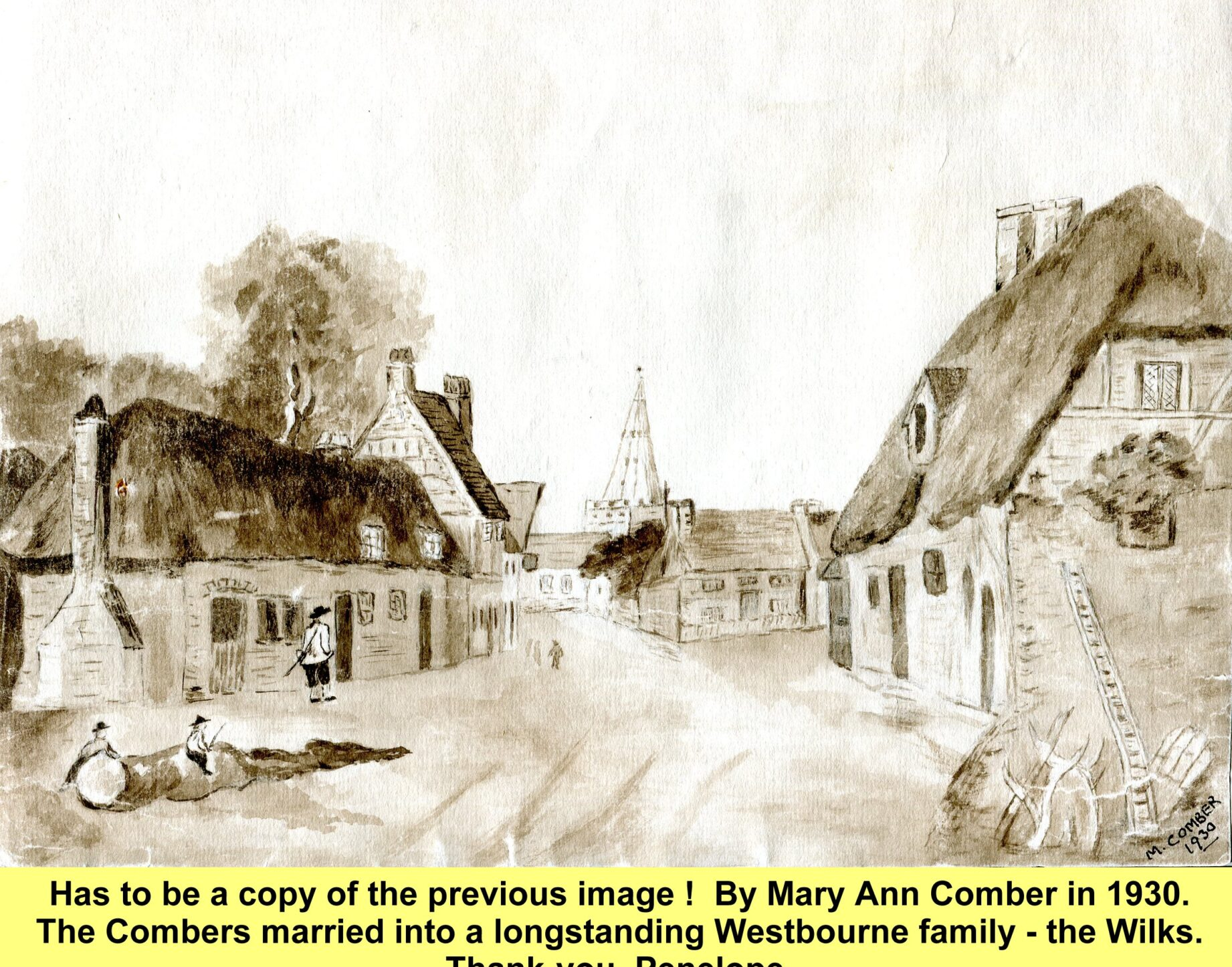 WESTBOURNE HISTORY PHOTO, COMBER, WILKS, SQUARE, CHURCH TOWER