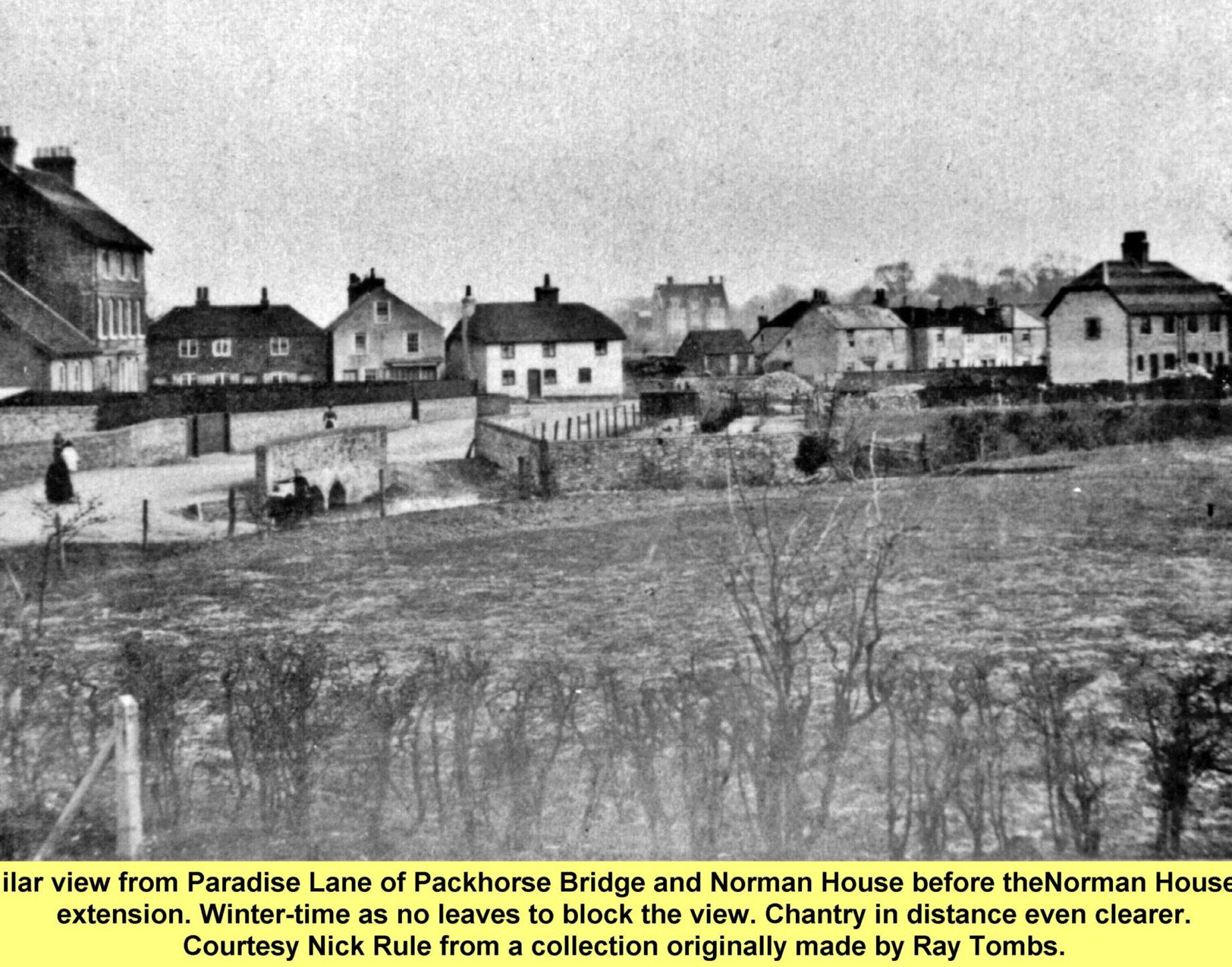 WESTBOURNE HISTORY PHOTO, PARADISE LANE, PACKHORSE, NORMAN HOUSE FARM, CHANTRY