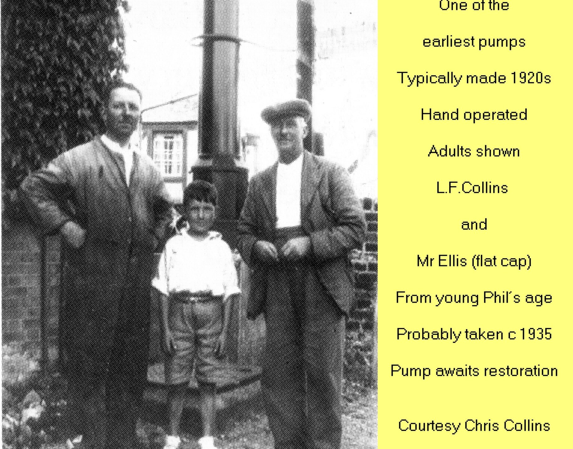 WESTBOURNE HISTORY PHOTO, COLLINS, GARAGE, PETROL, PUMP