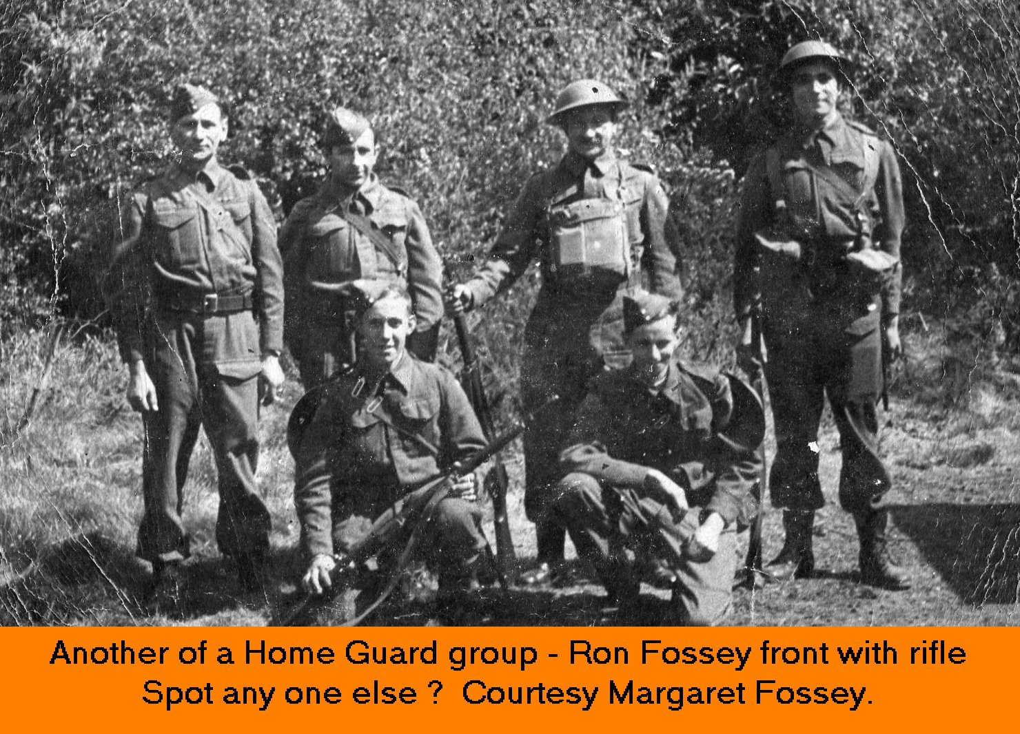 WESTBOURNE HISTORY PHOTO, HOME GUARD, WWII, WHITTINGTON, FOSSEY, DREW,