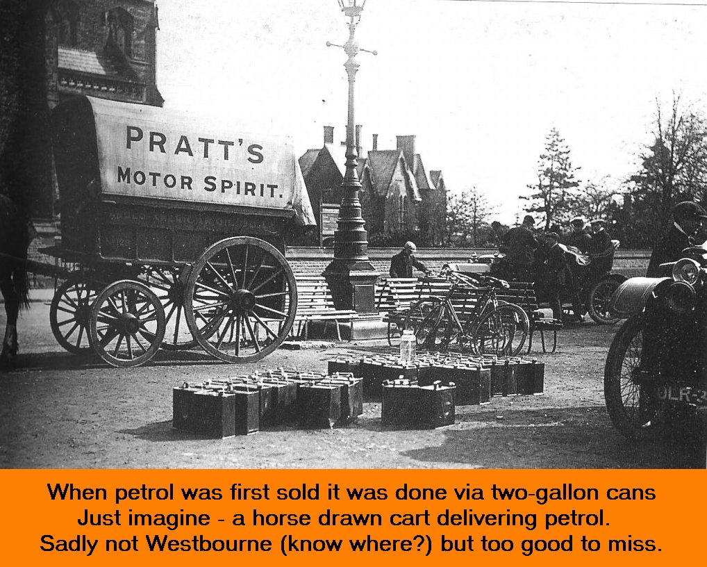 WESTBOURNE HISTORY PHOTO, COLLINS, GARAGE, PETROL, TWO GALLON,CAN